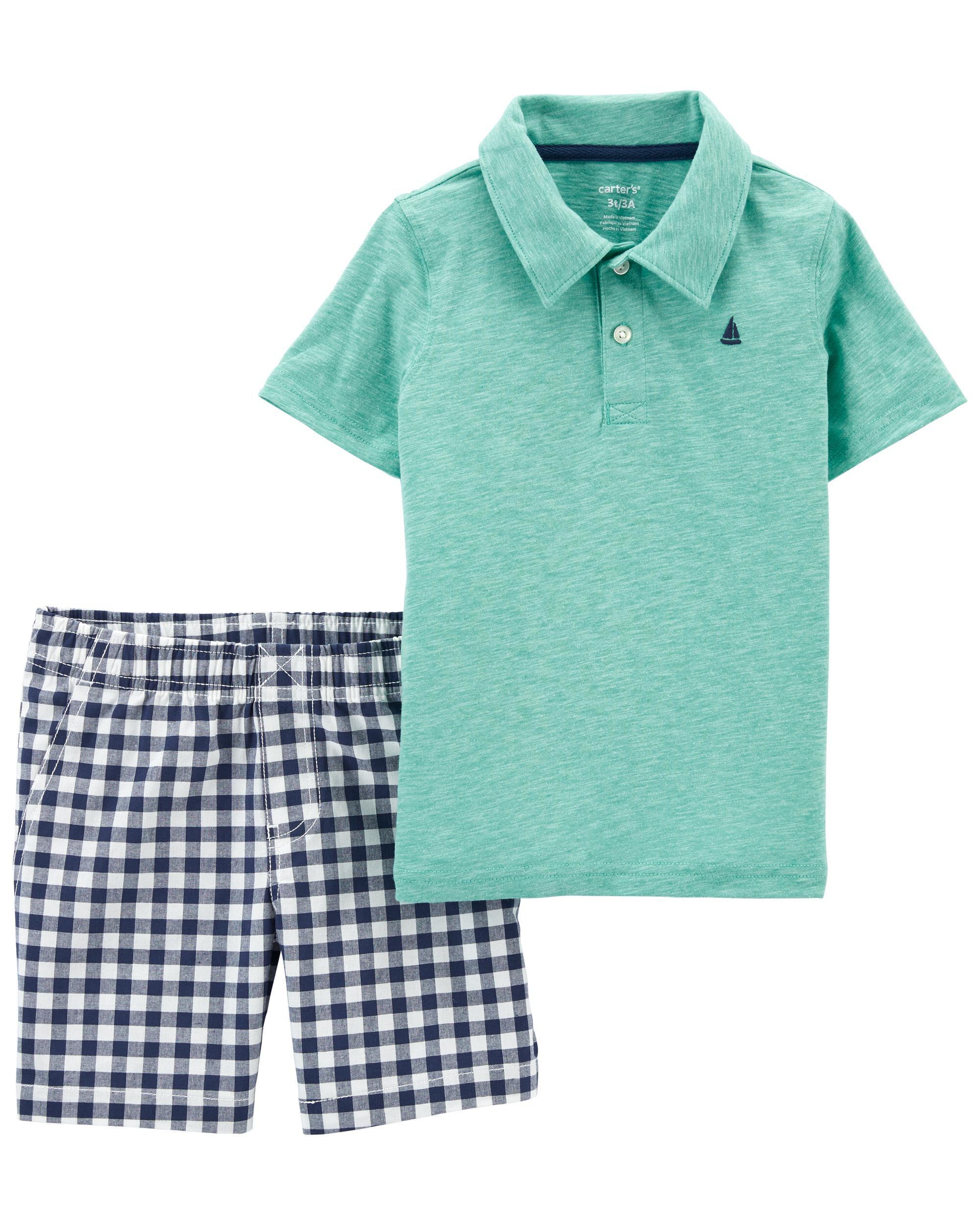 Carters 2-Piece Jersey Polo & Short Set