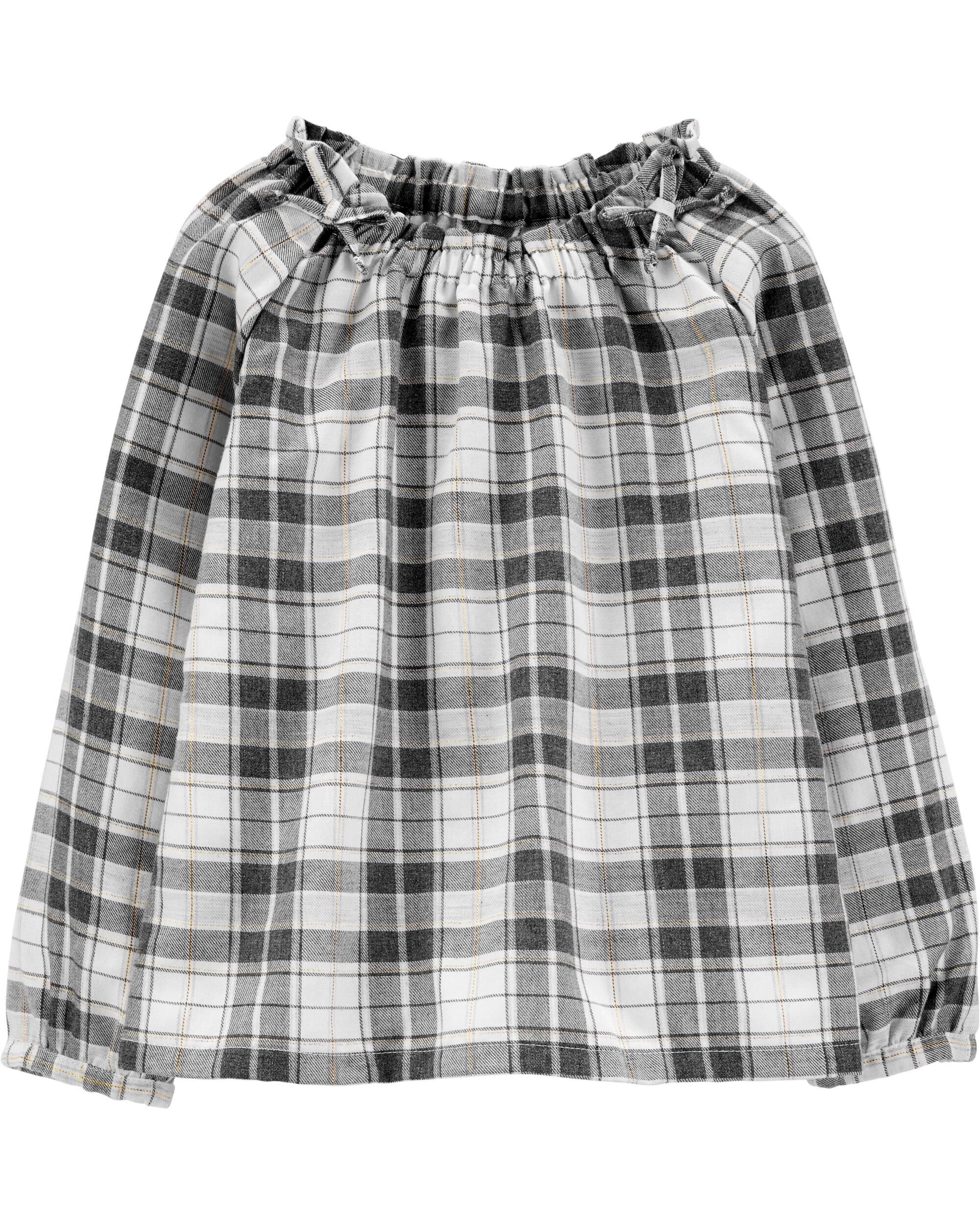 *Clearance*  Plaid Twill Top