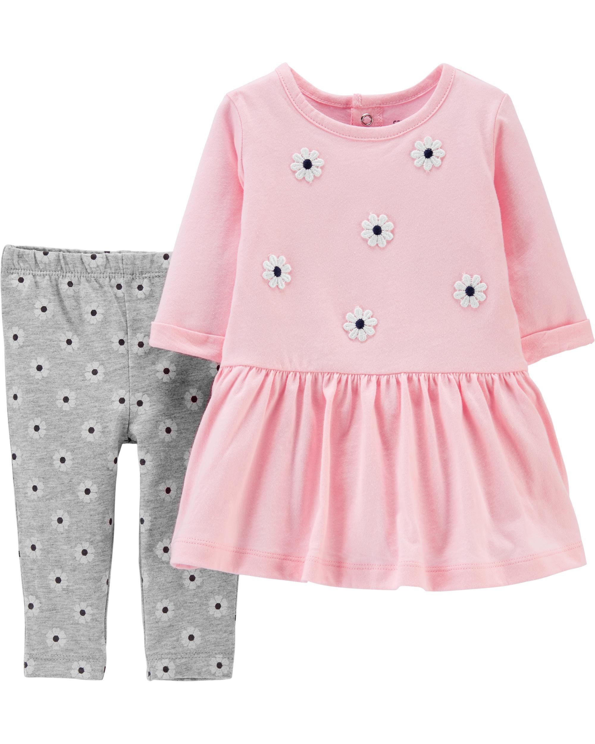 *Clearance*  2-Piece Floral Jersey Dress & Leggi...