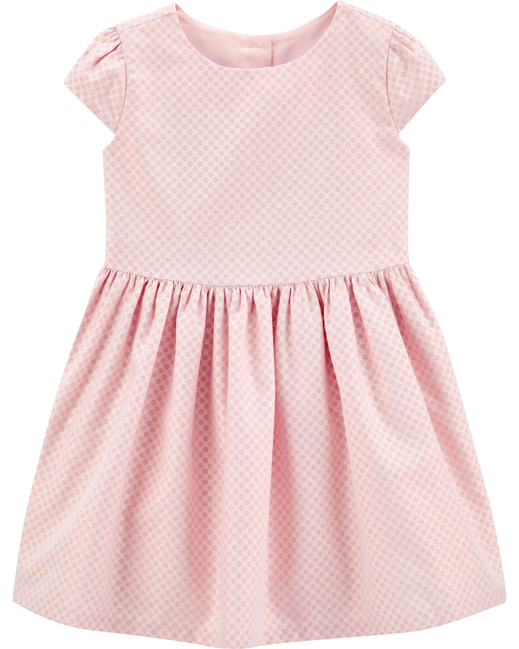 *Clearance*  Polka Dot Jacquard Dress