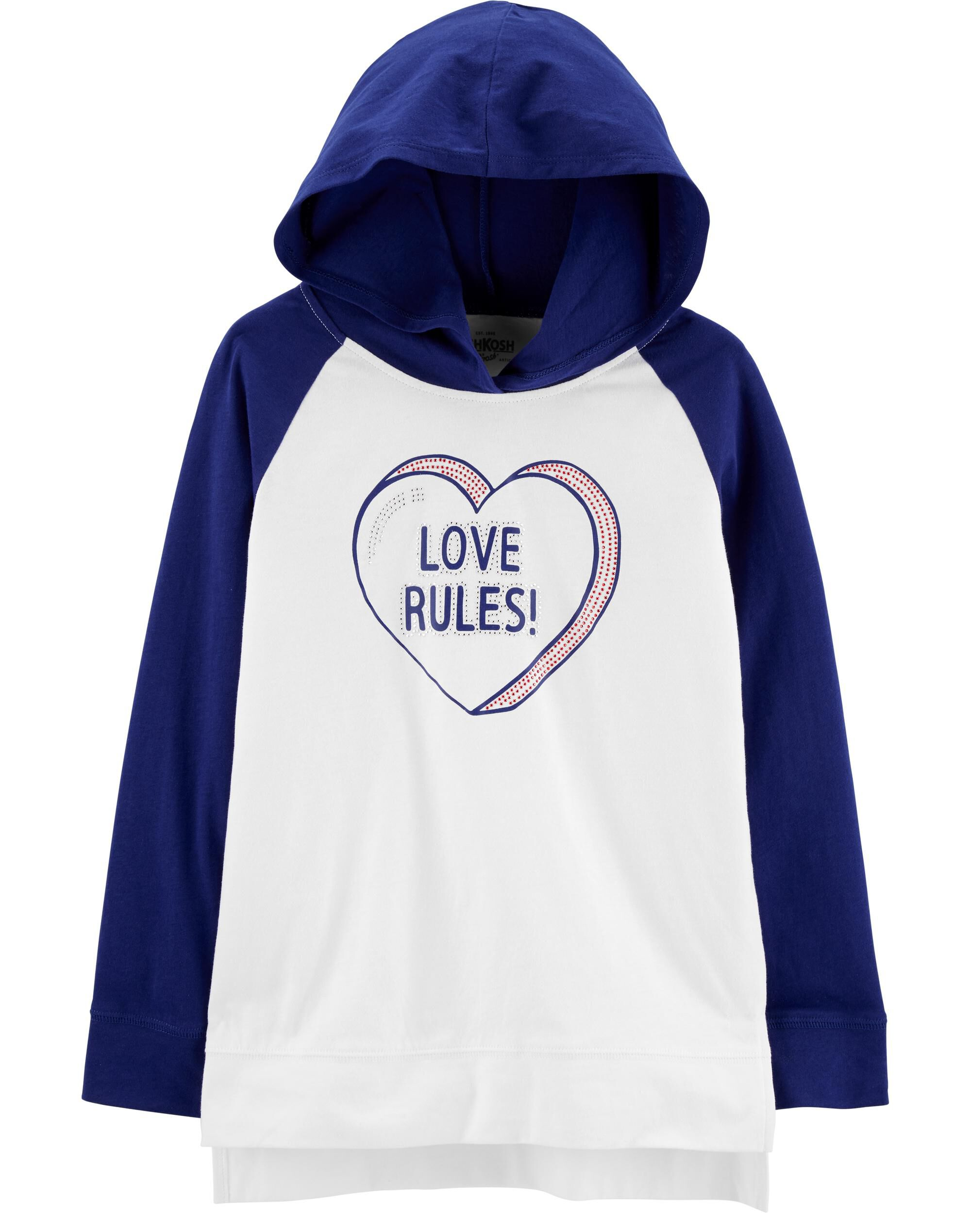 *Clearance*  Love Rules Hooded Tunic