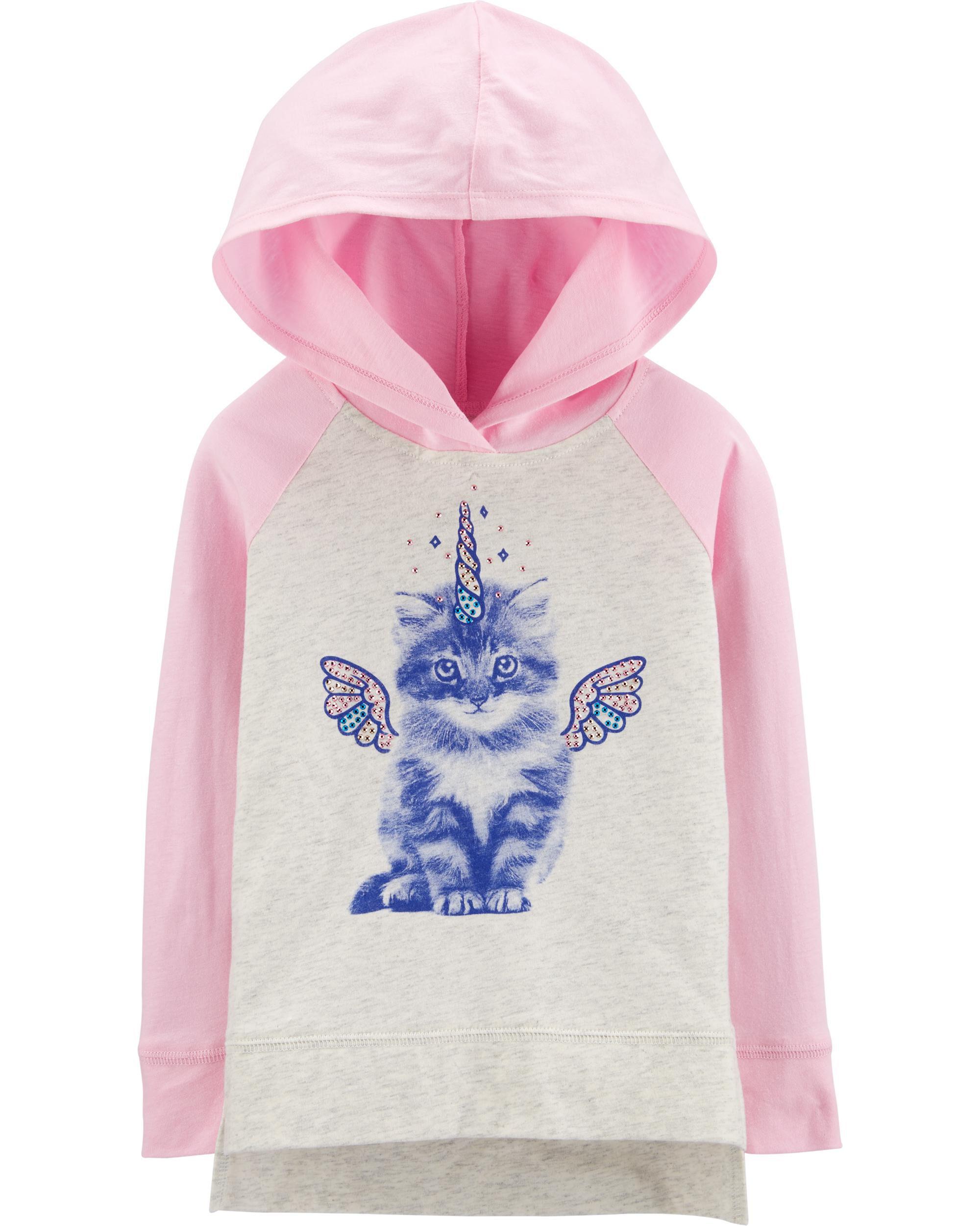 *Clearance*  Cat Unicorn Hooded Tunic
