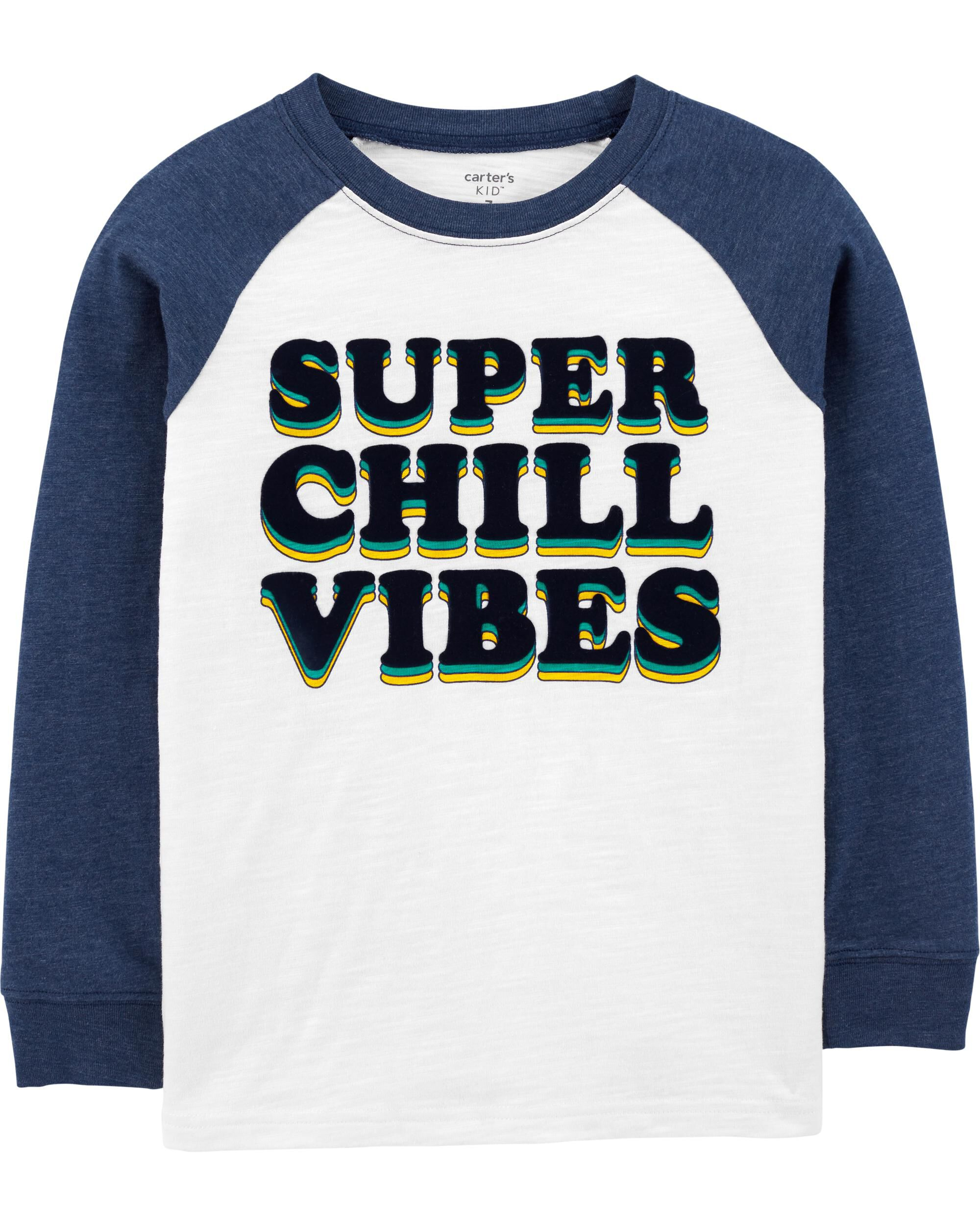 *Clearance*  Super Chill Vibes Raglan Jersey Tee