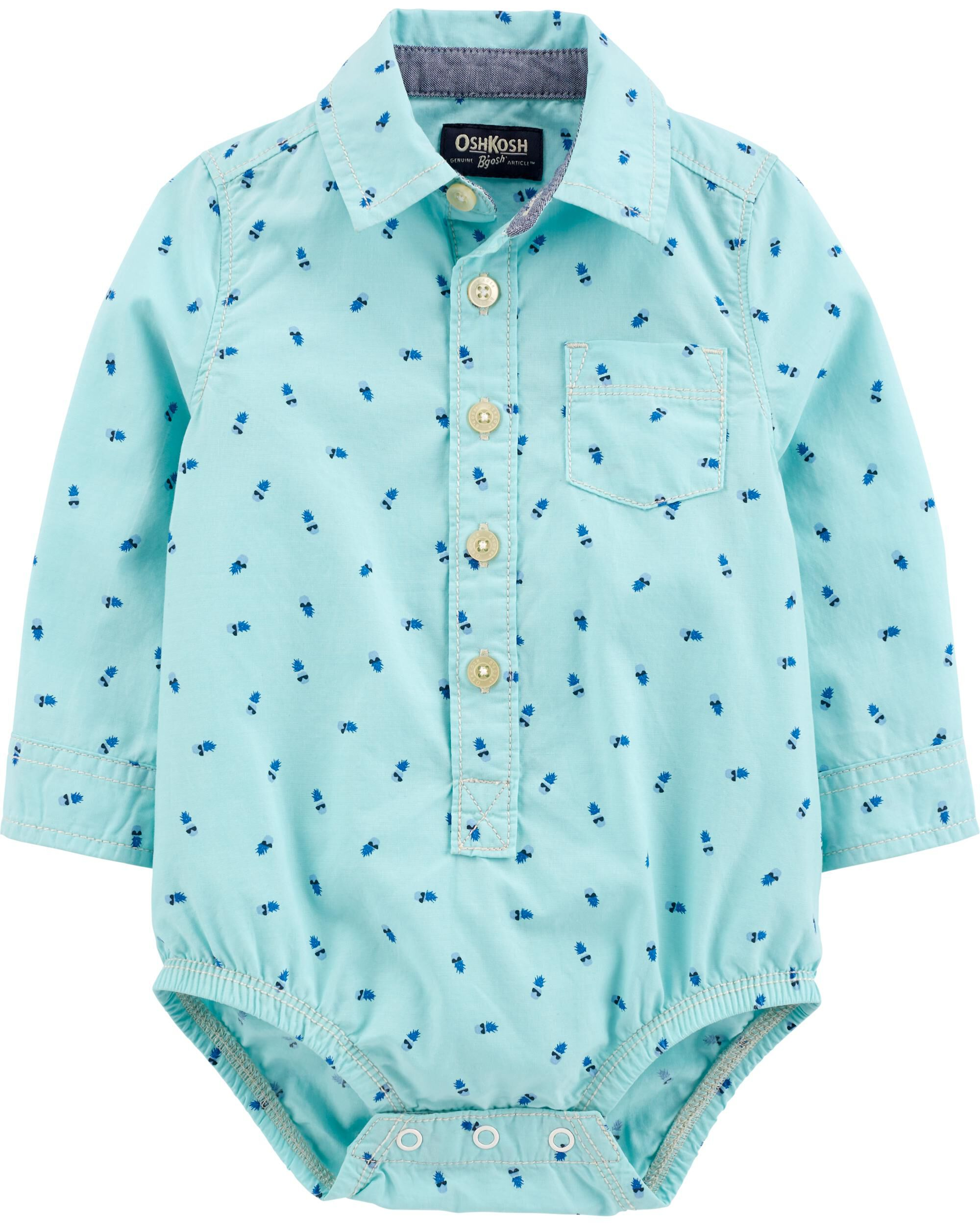 *Clearance*  Pineapple Button-Front Bodysuit