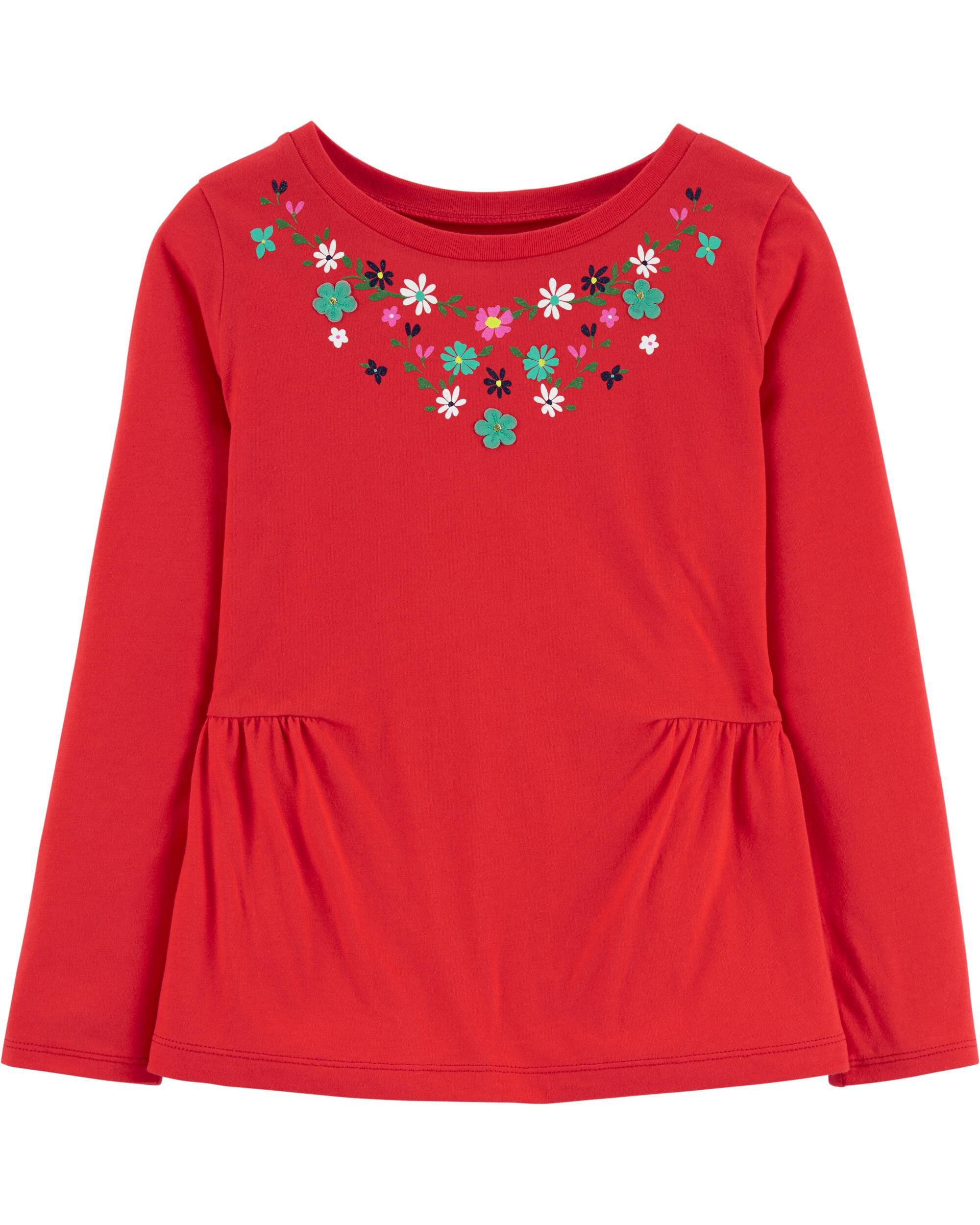*Clearance*  Floral Peplum Top