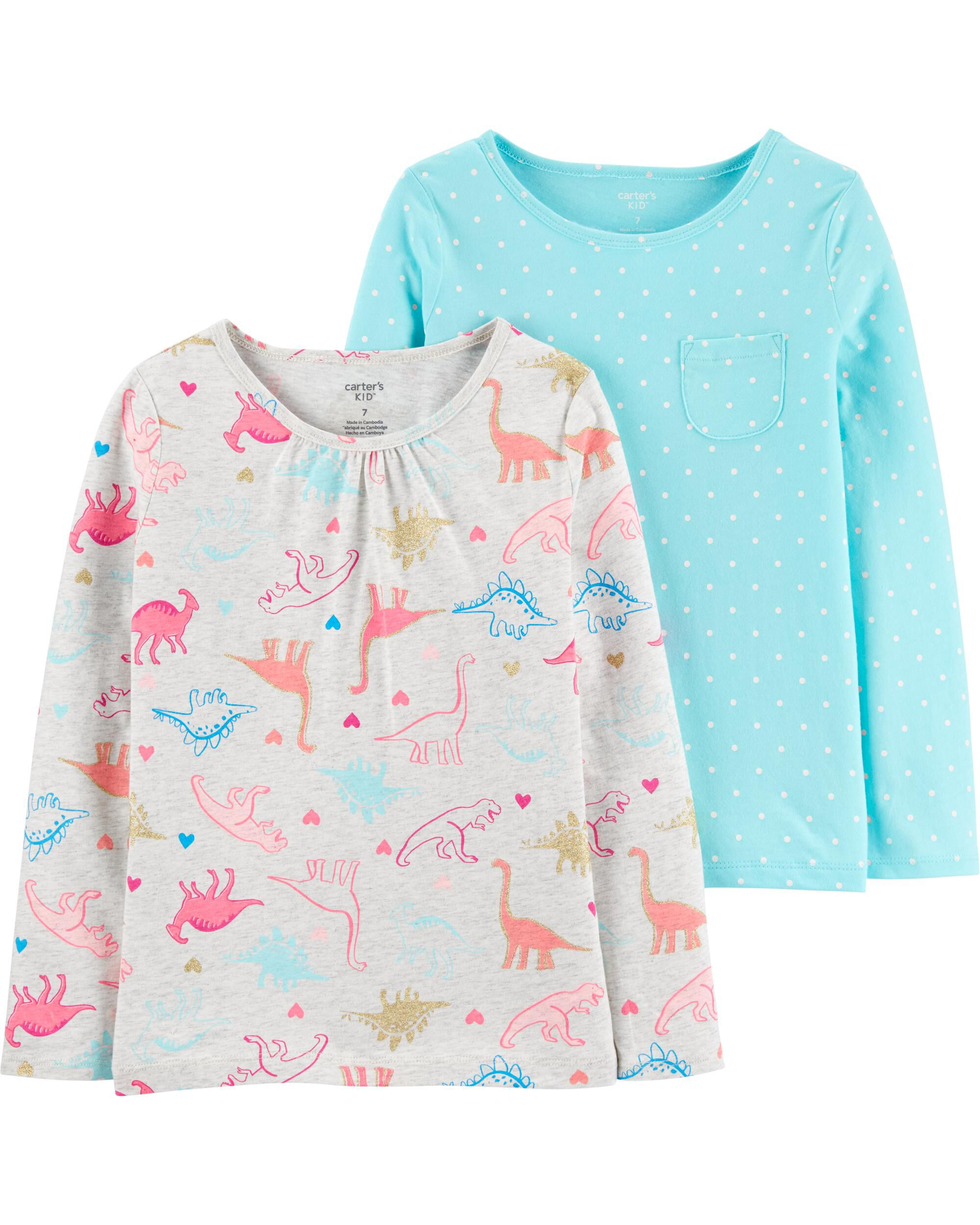 *Clearance*  2-Pack Dinosaurs & Polka Dot Jersey...