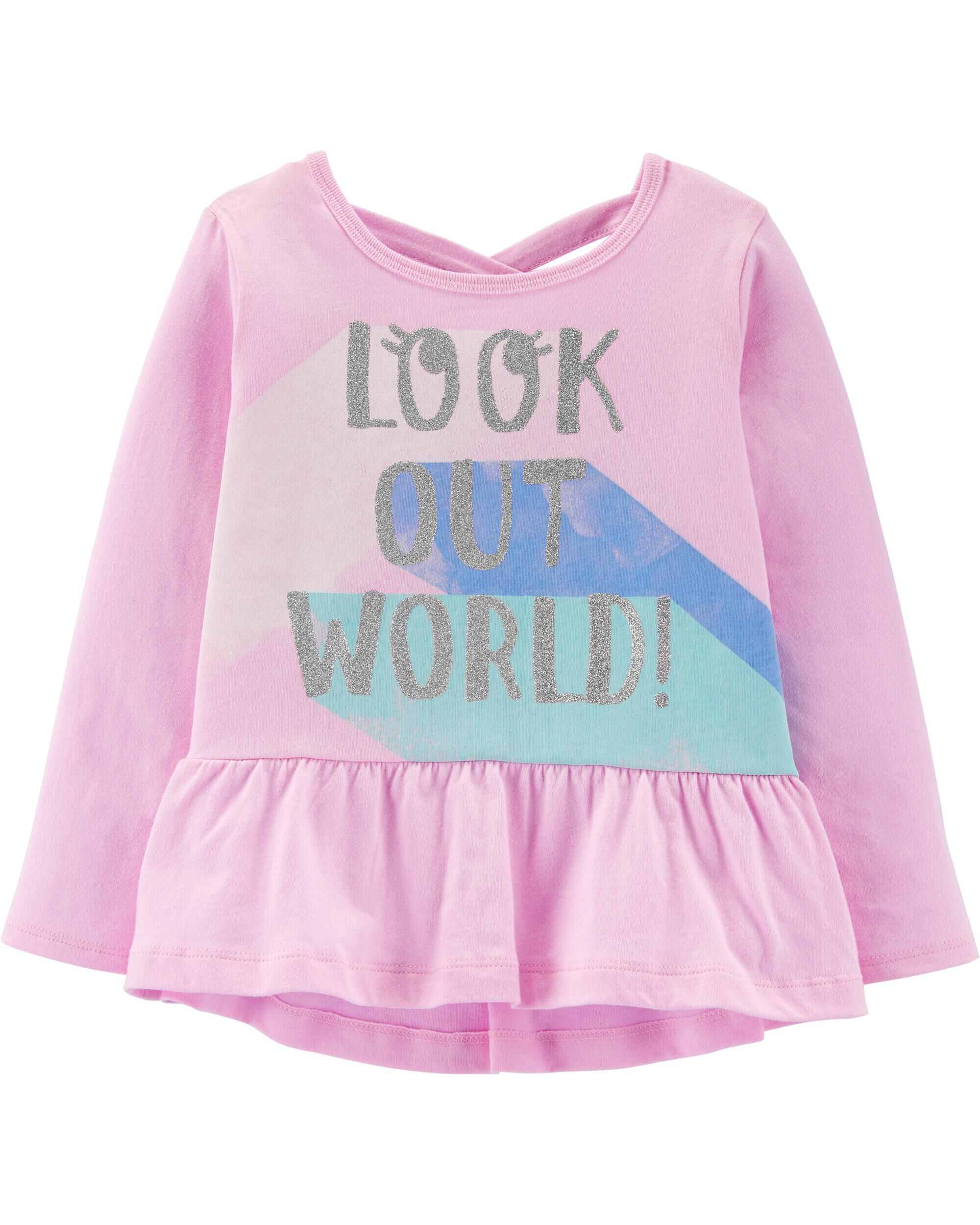 *Clearance*  Look Out World Peplum Top