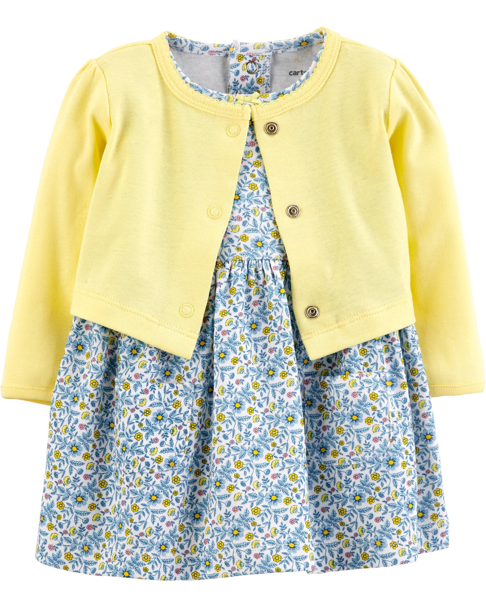 *Clearance*  2-Piece Floral Bodysuit Dress & Car...