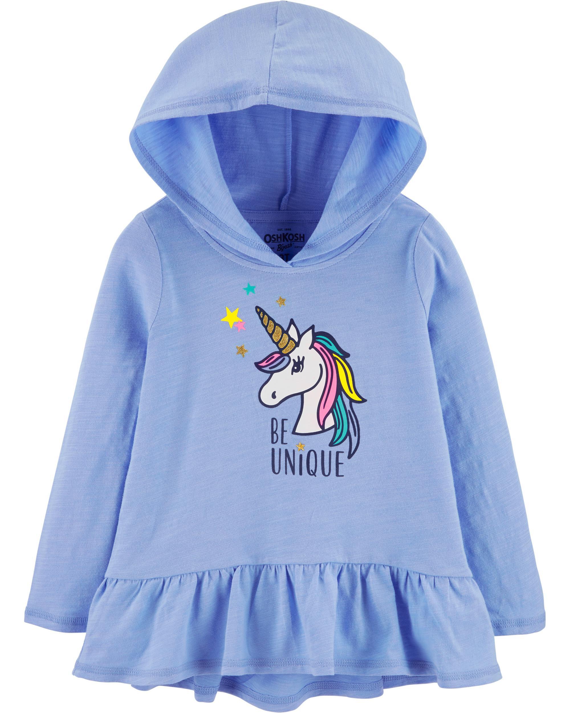 *Clearance*  Hooded Unicorn Peplum Tunic