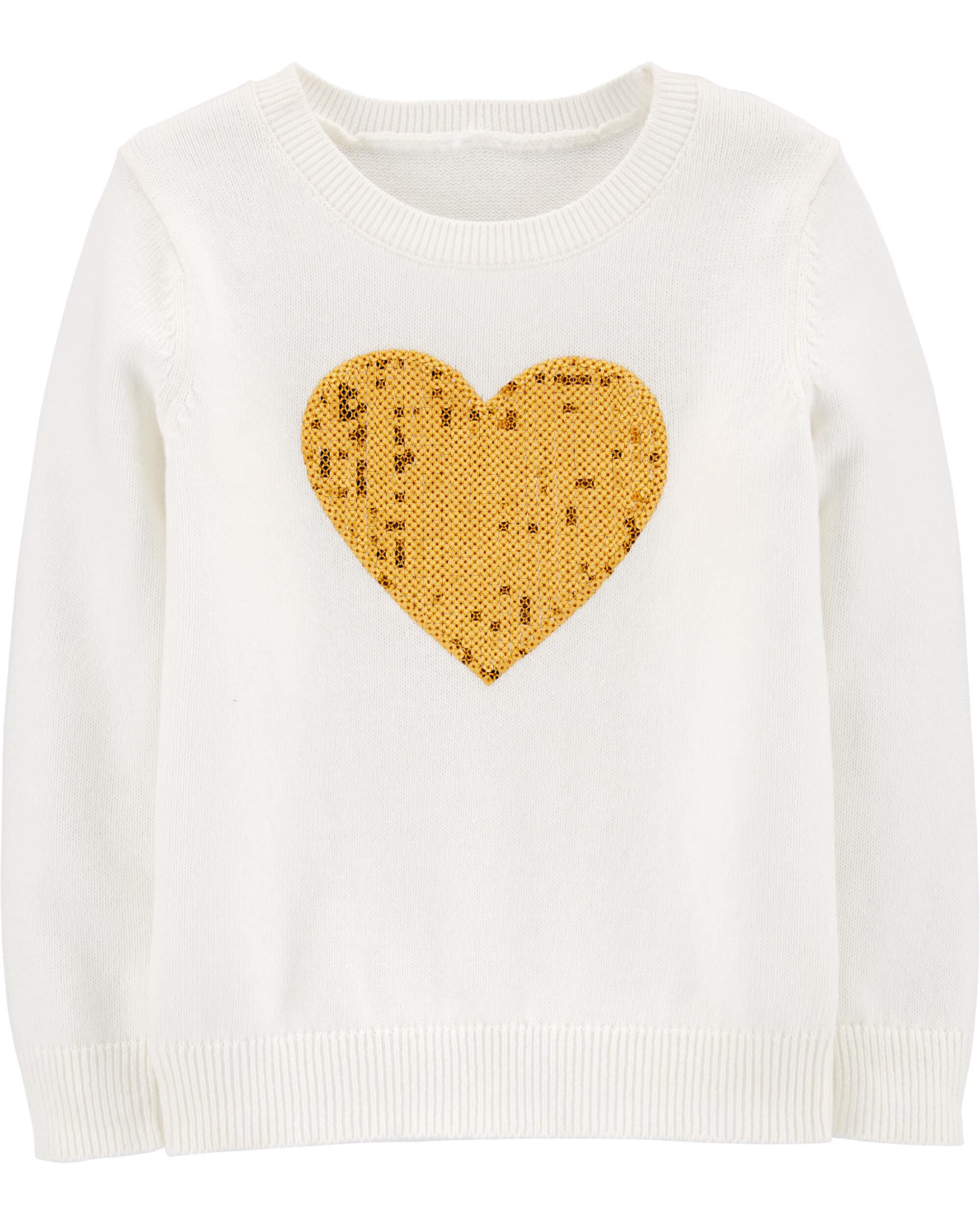 *Clearance*  Sequin Heart Sweater