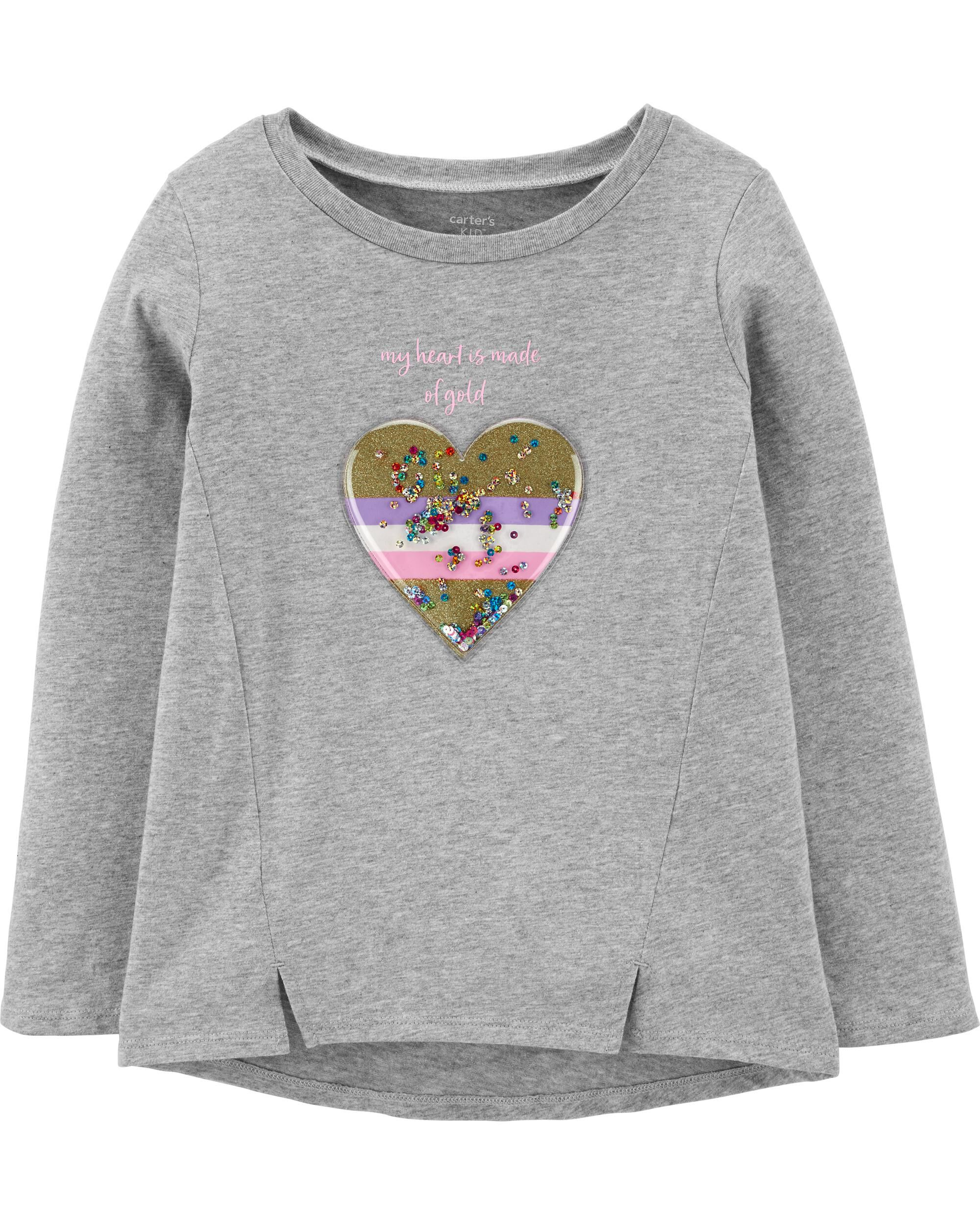 *Clearance*  Interactive Heart Jersey Top