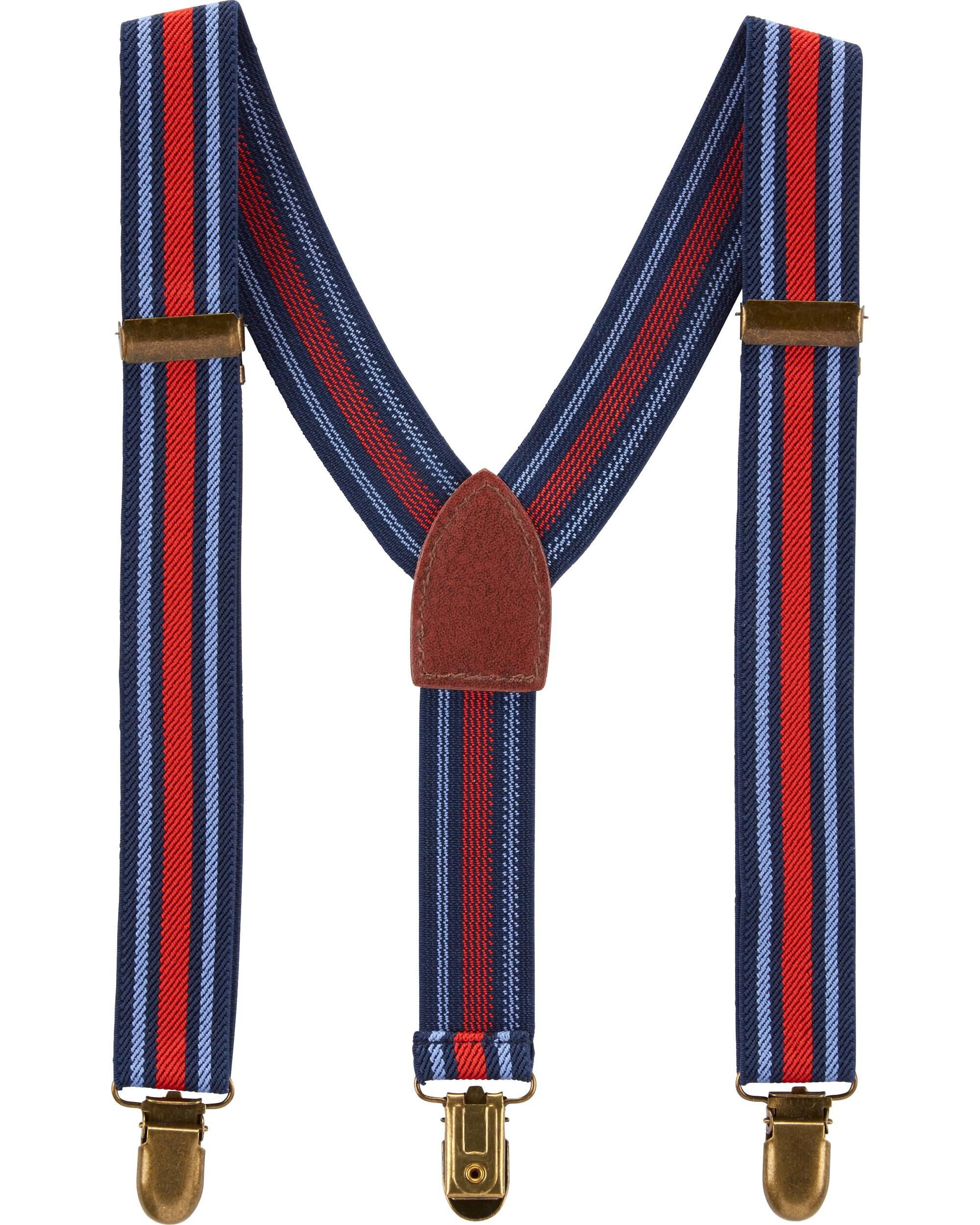 *Clearance*  Red Striped Suspenders