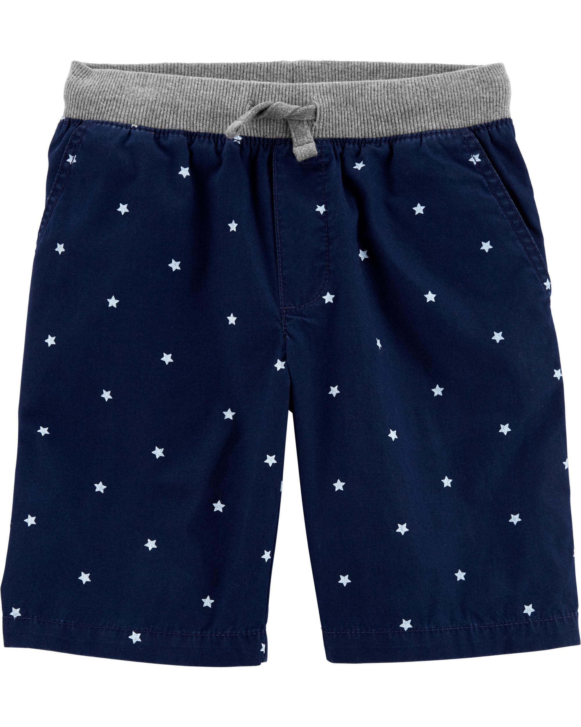 *Clearance*  Star Pull-On Poplin Shorts