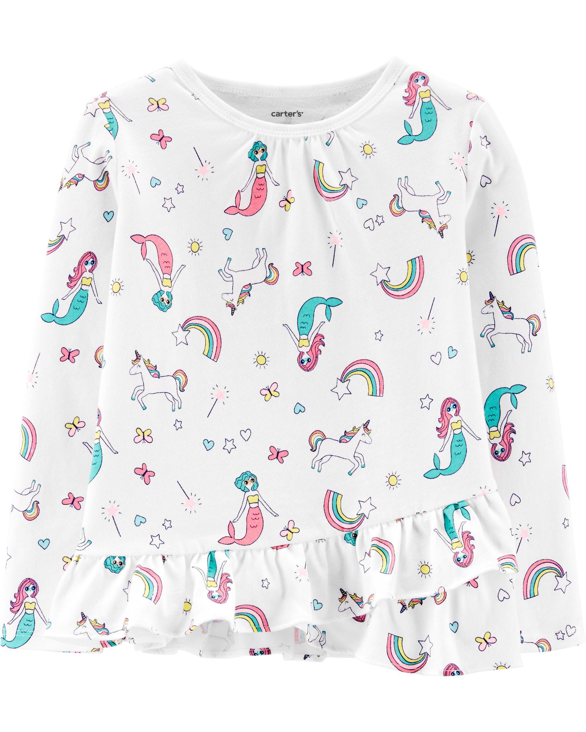 *Clearance*  Mermaids & Unicorns Ruffle Jersey T...