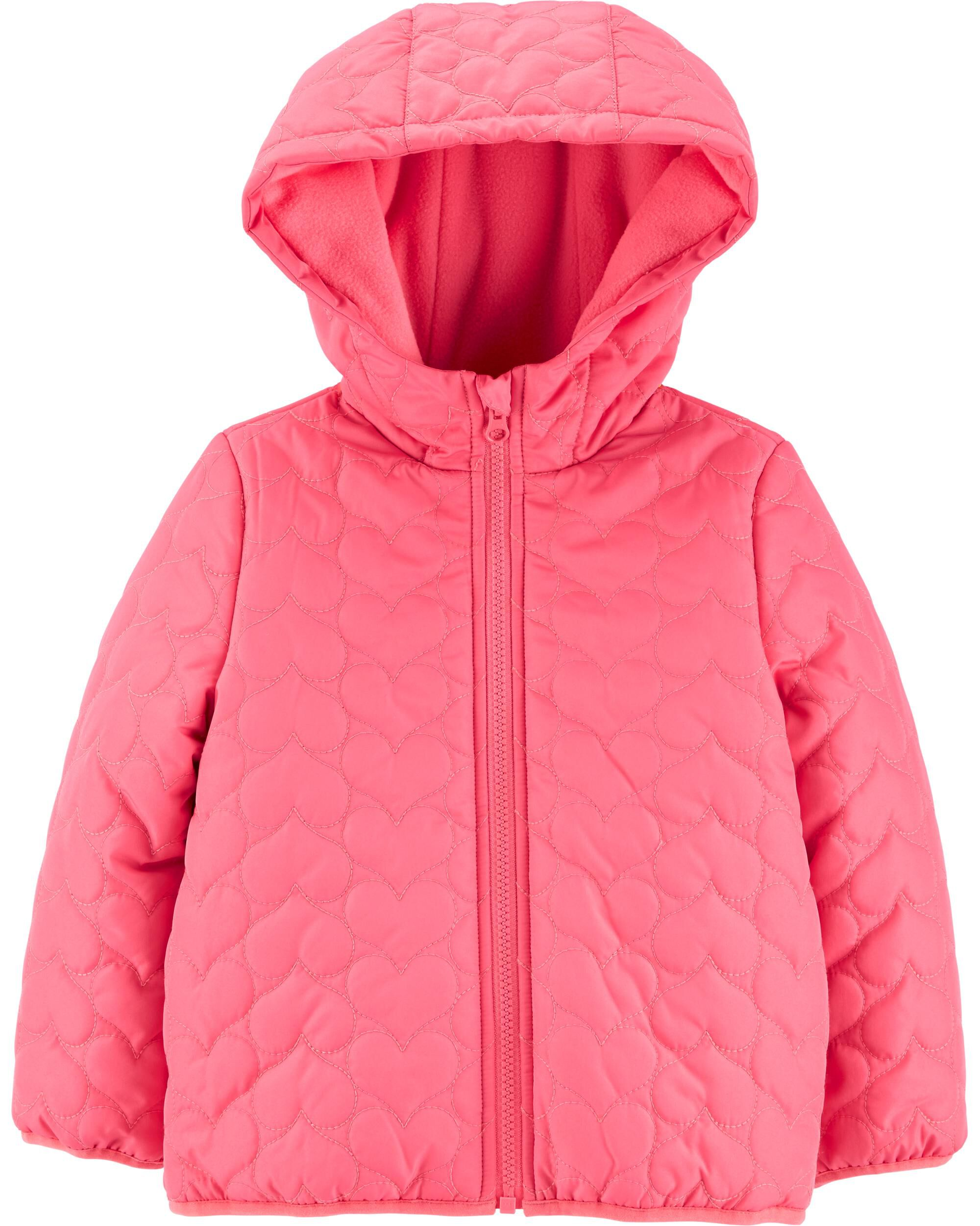 *Clearance*  Heart Quilted Puffer Jacket