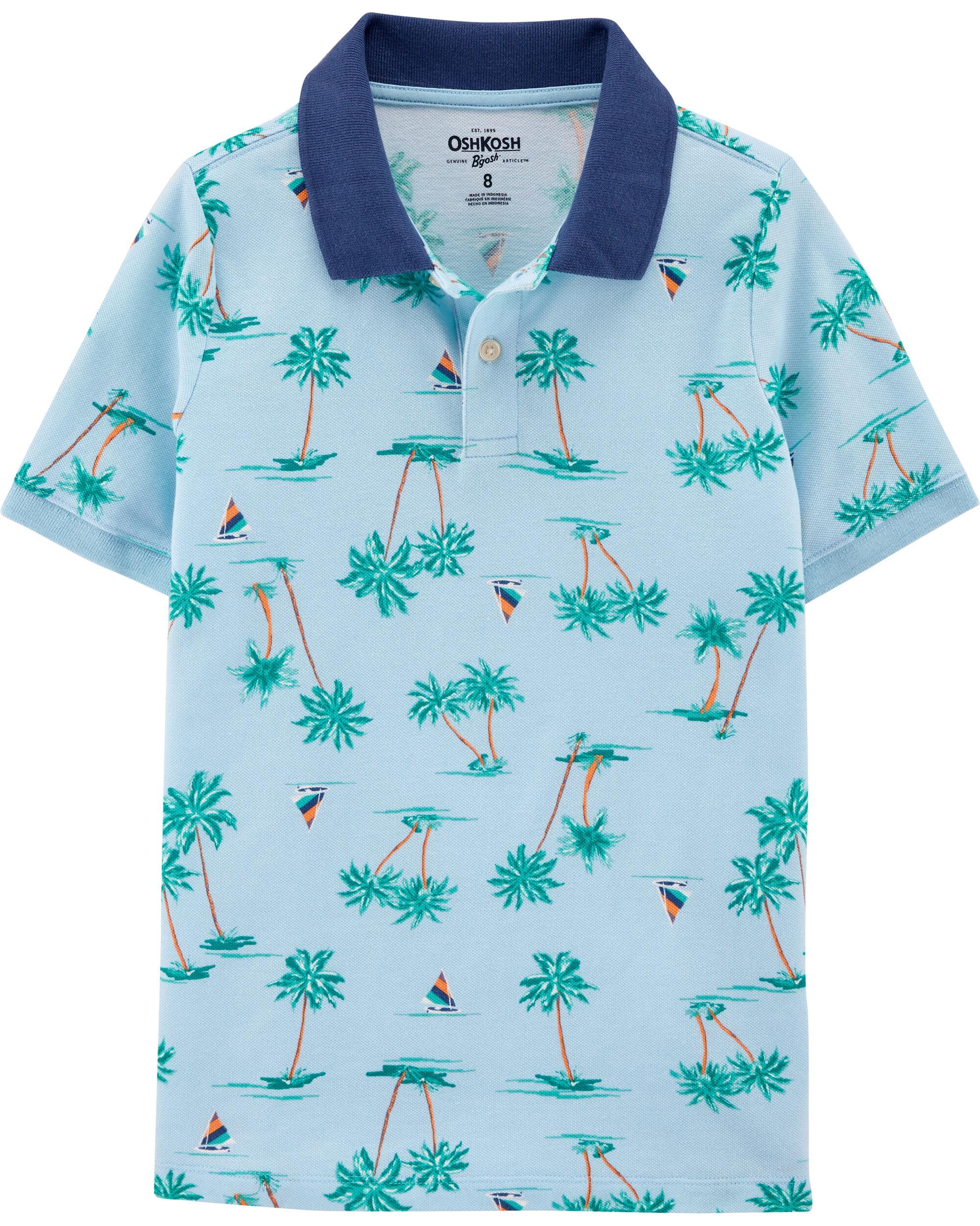 *Clearance*  Palm Tree Pique Polo
