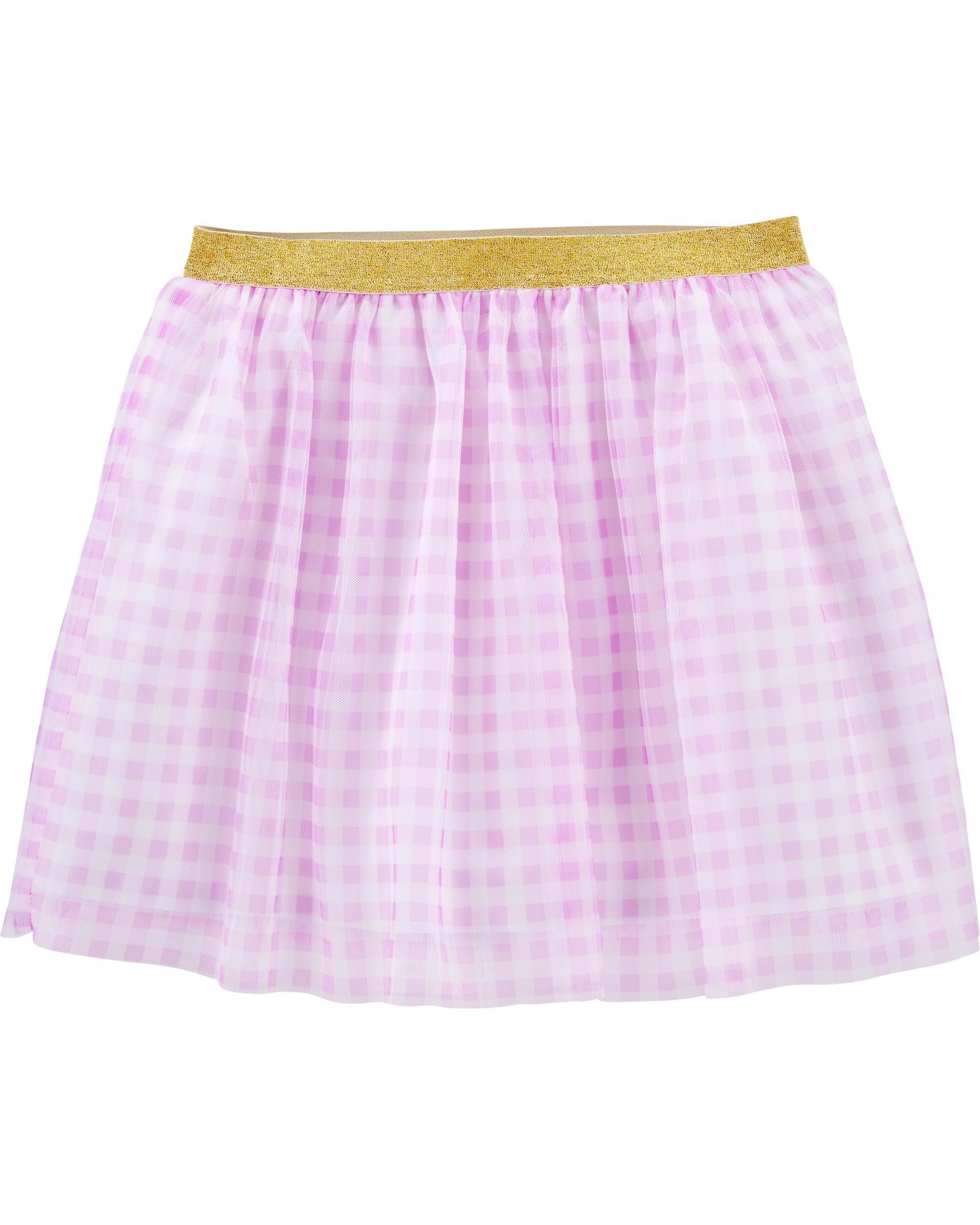 *Clearance*  Glitter Gingham Tutu Skirt