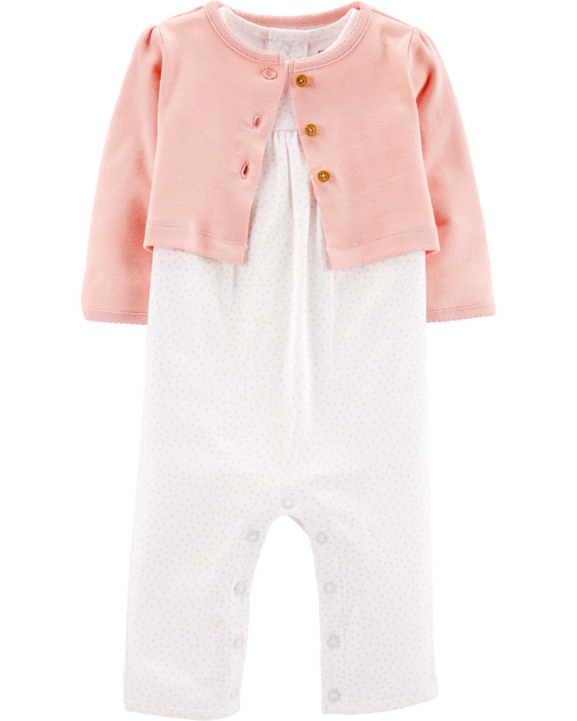 *Clearance*  2-Piece Jumpsuit & Cardigan Set