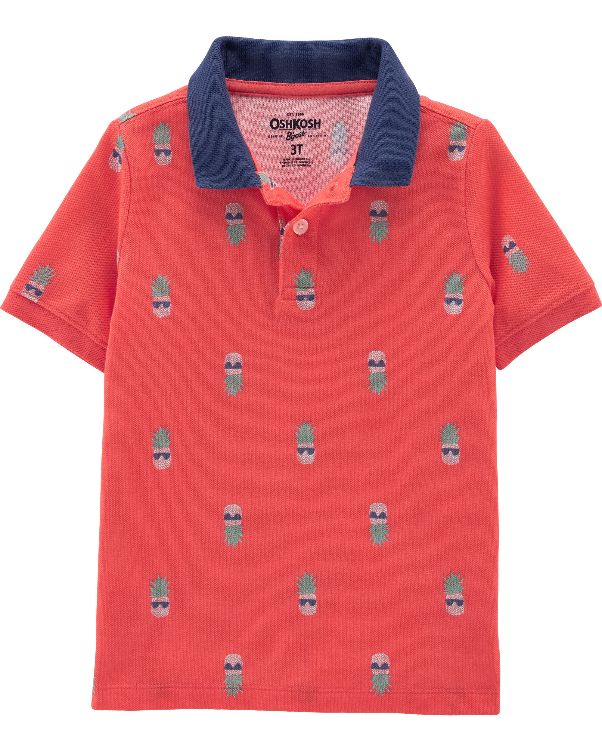 *Clearance*  Pineapple Pique Polo