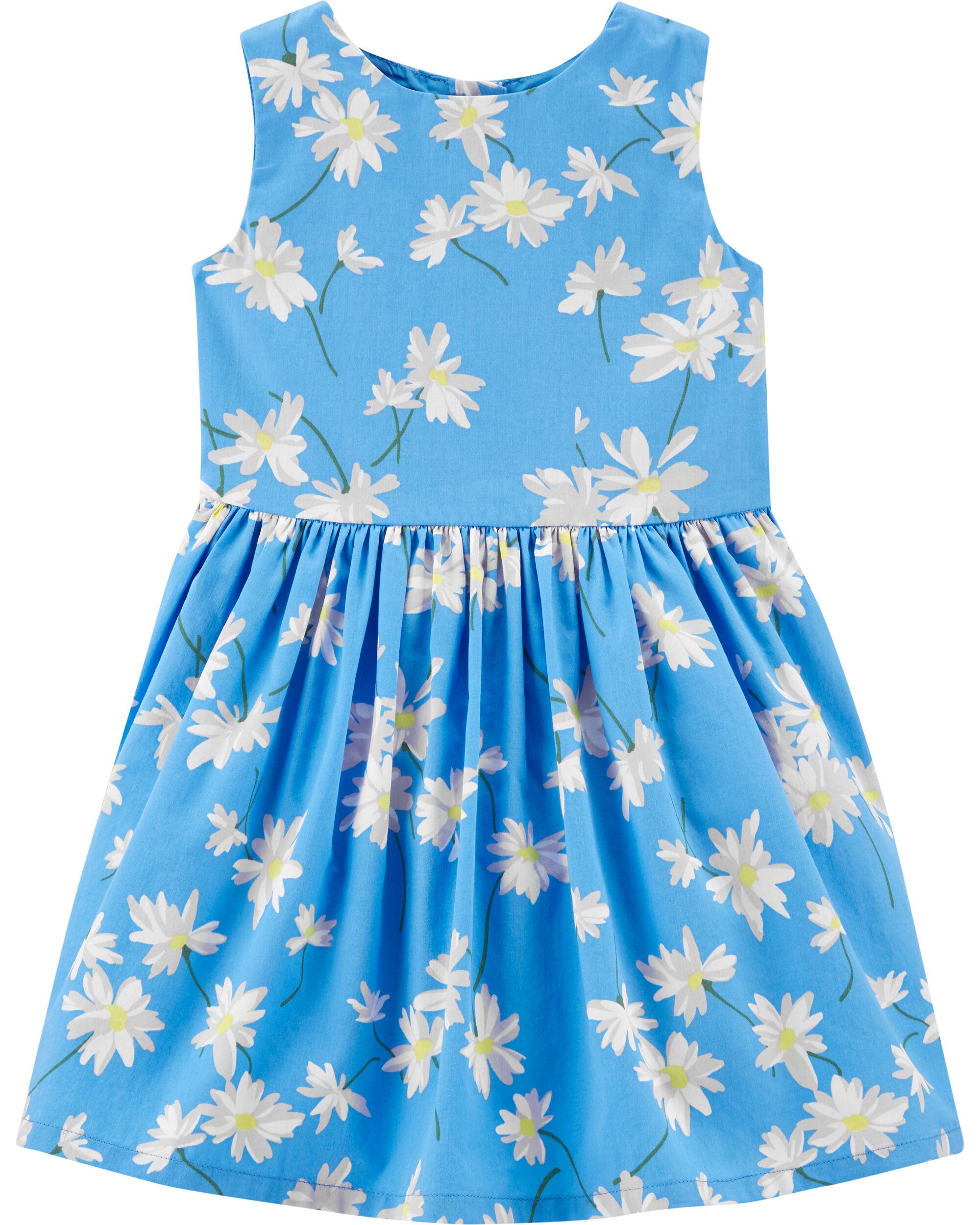 *Clearance*  Floral Sateen Dress