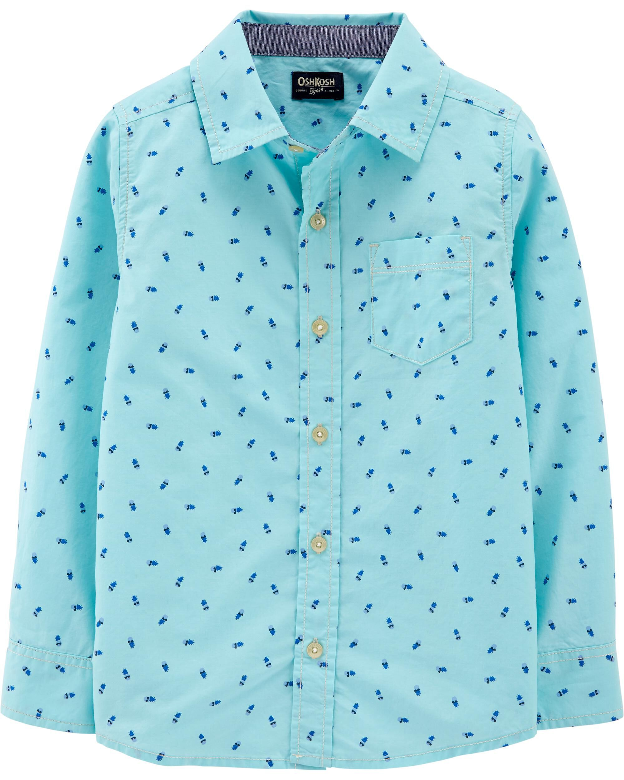 *Clearance*  Pineapple Button-Front Shirt