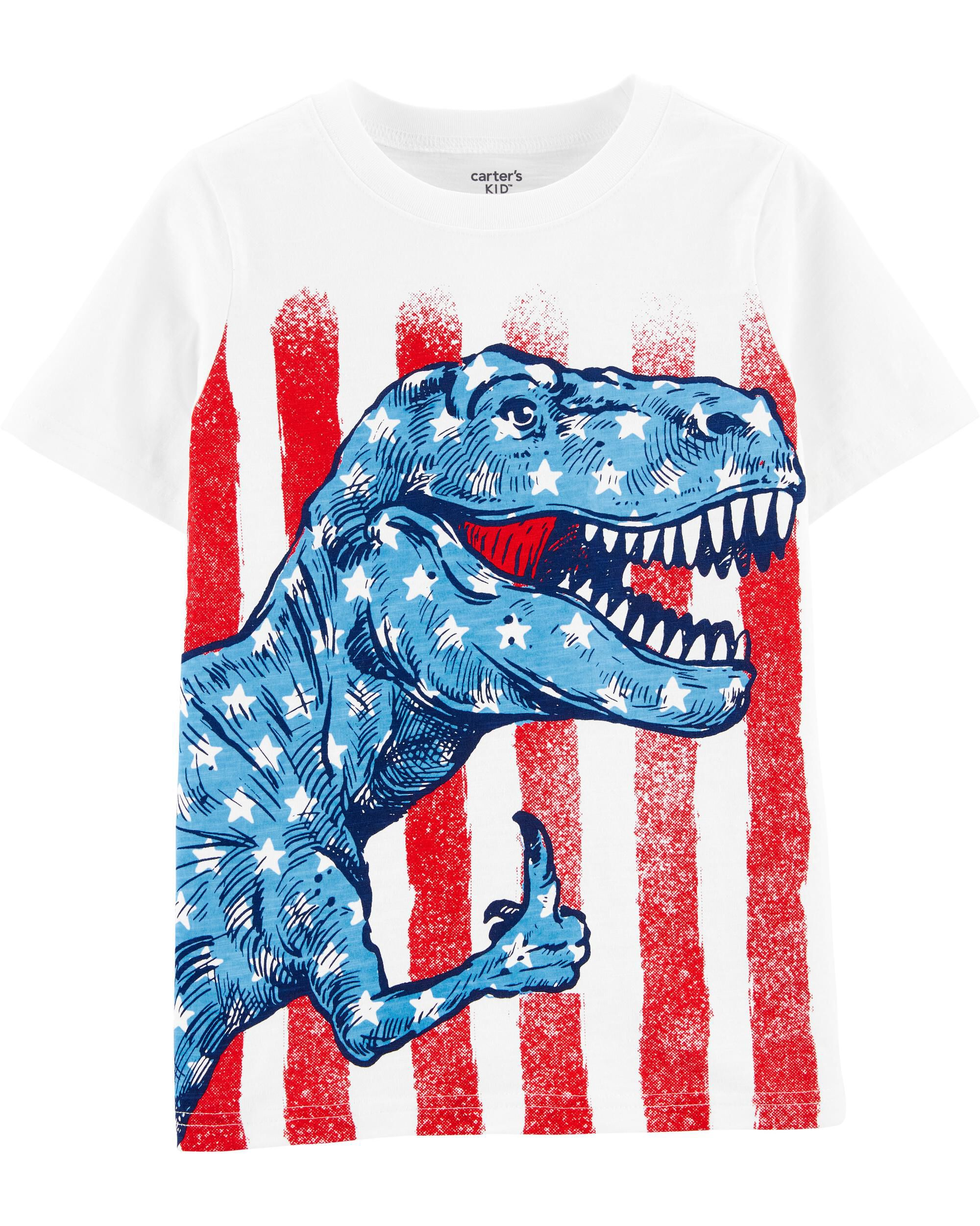 *Clearance*  4th Of July Dinosaur Jersey Tee