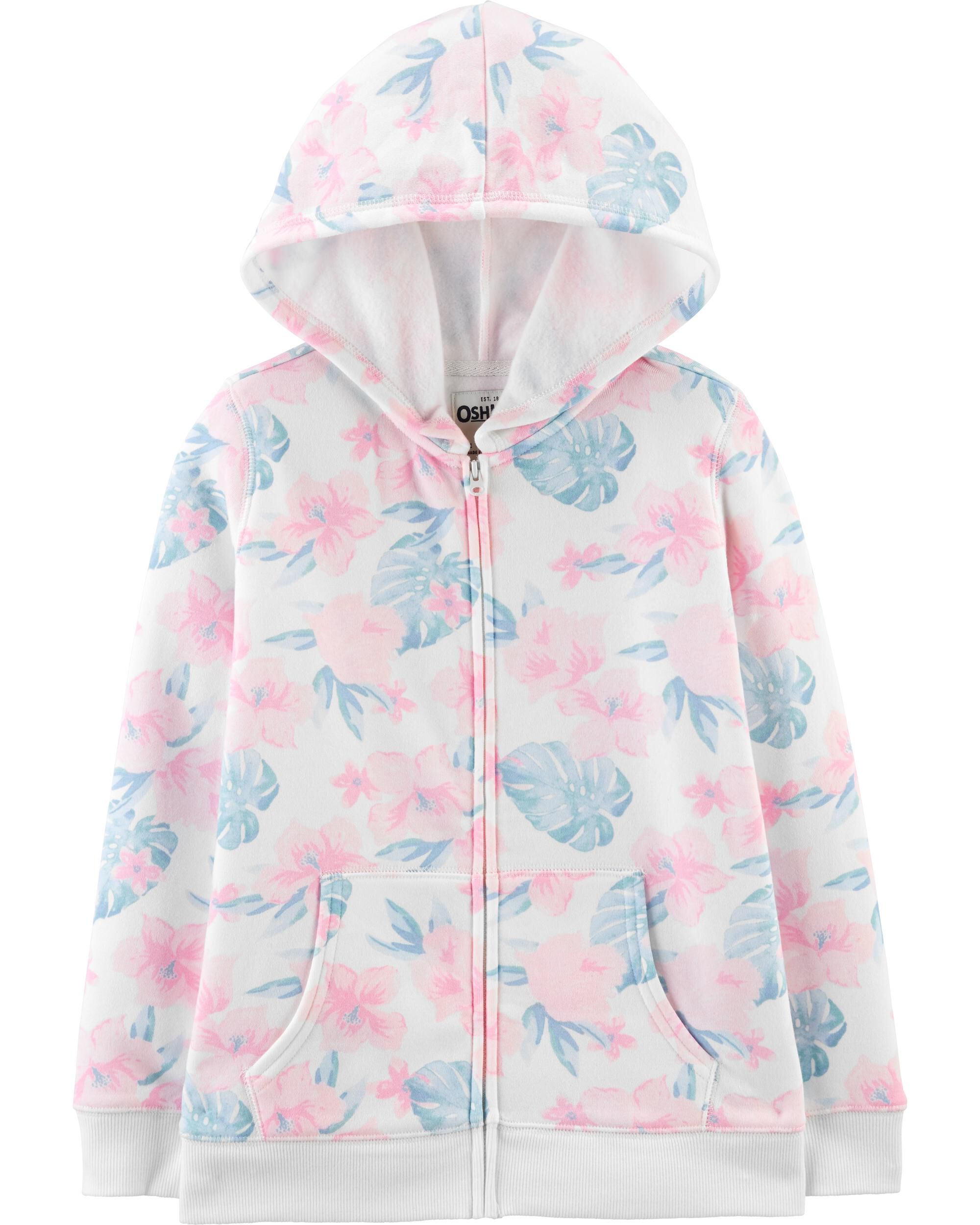 *Clearance*  Tropical Floral Hoodie