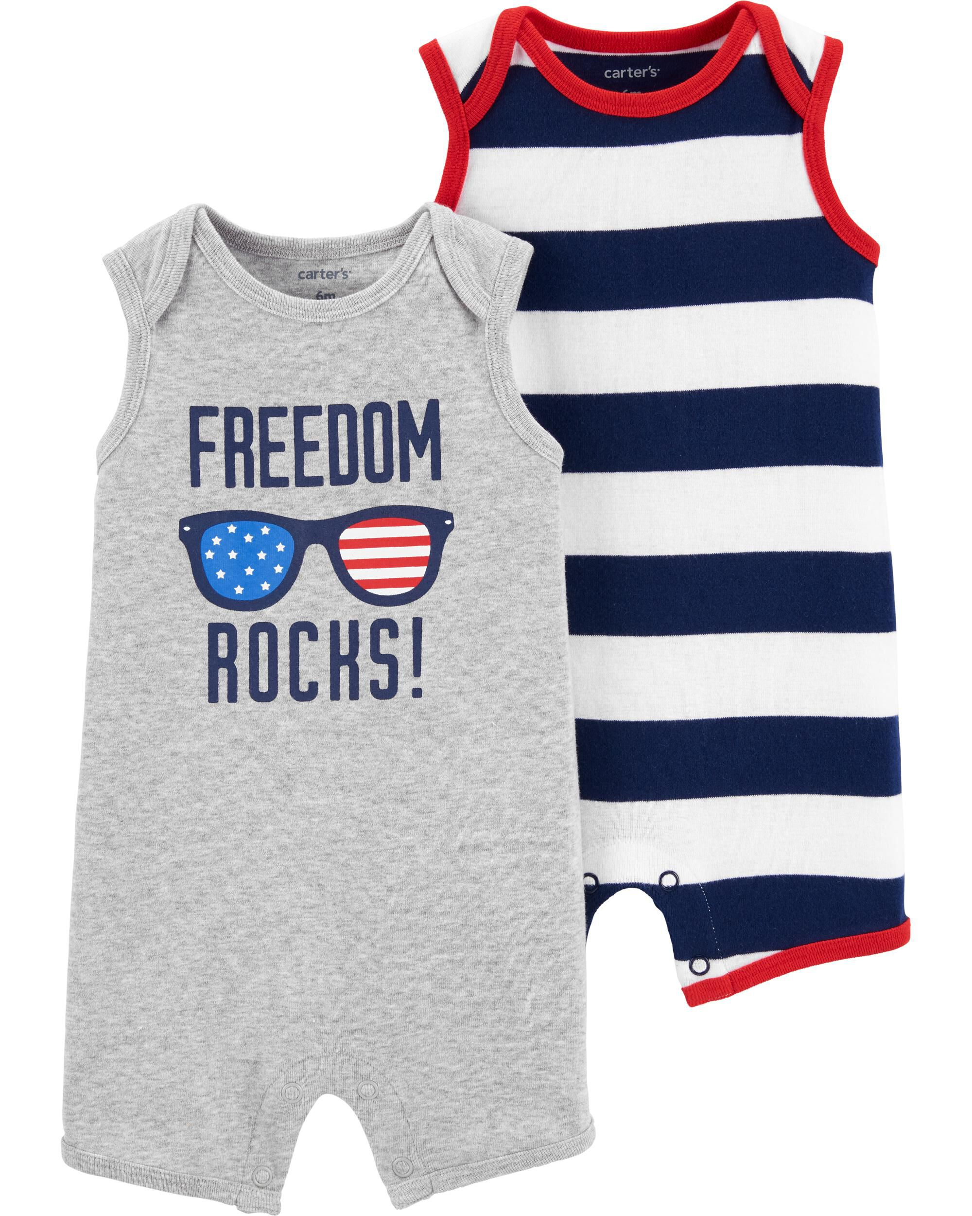 *Clearance*  2-Pack 4th Of July Rompers