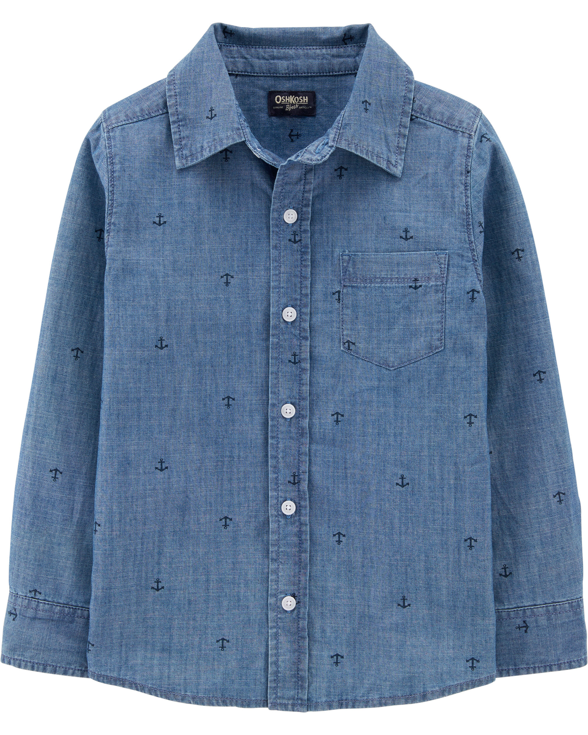 *Clearance*  Anchor Chambray Button-Front Shirt