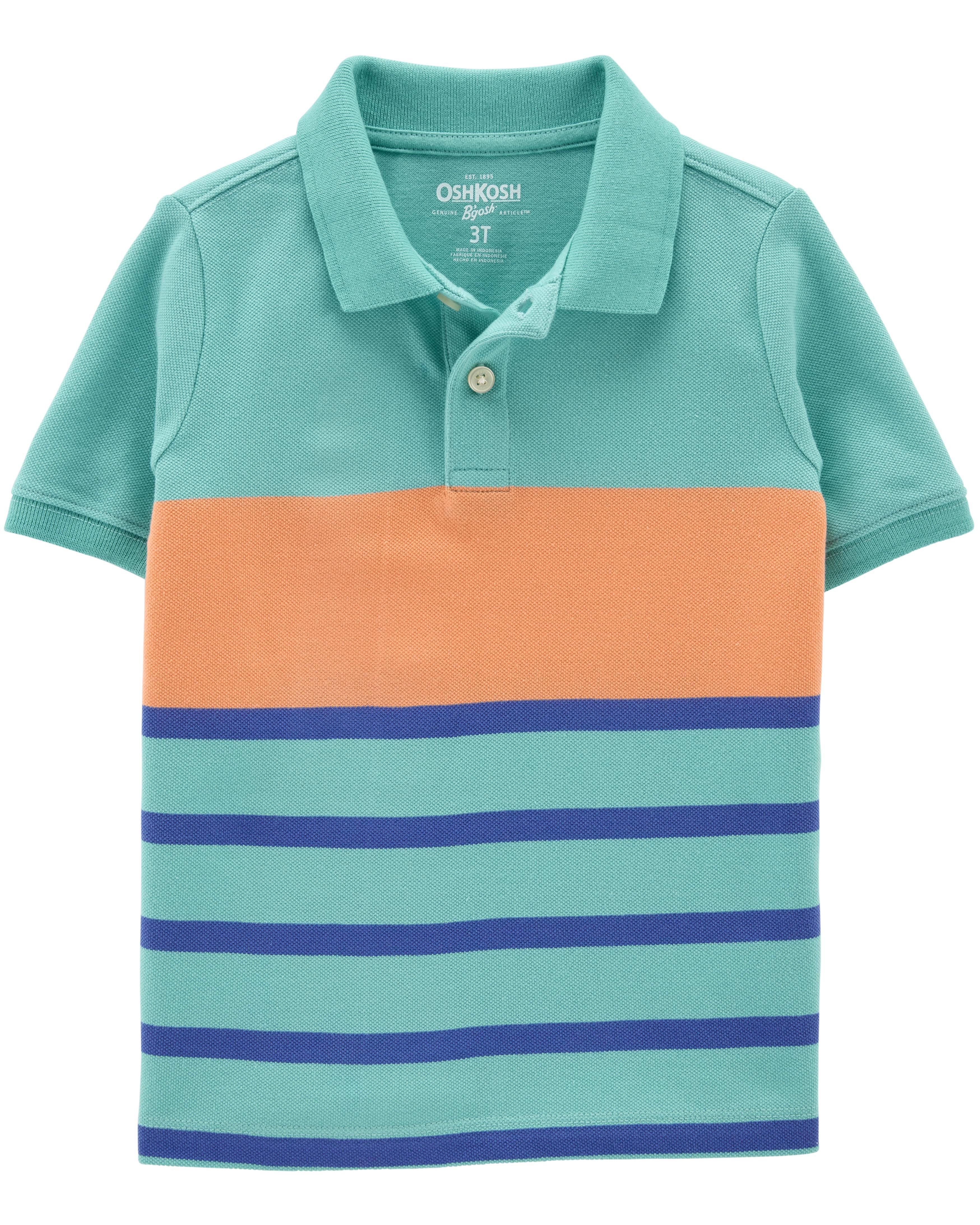 *Clearance*  Striped Pique Polo
