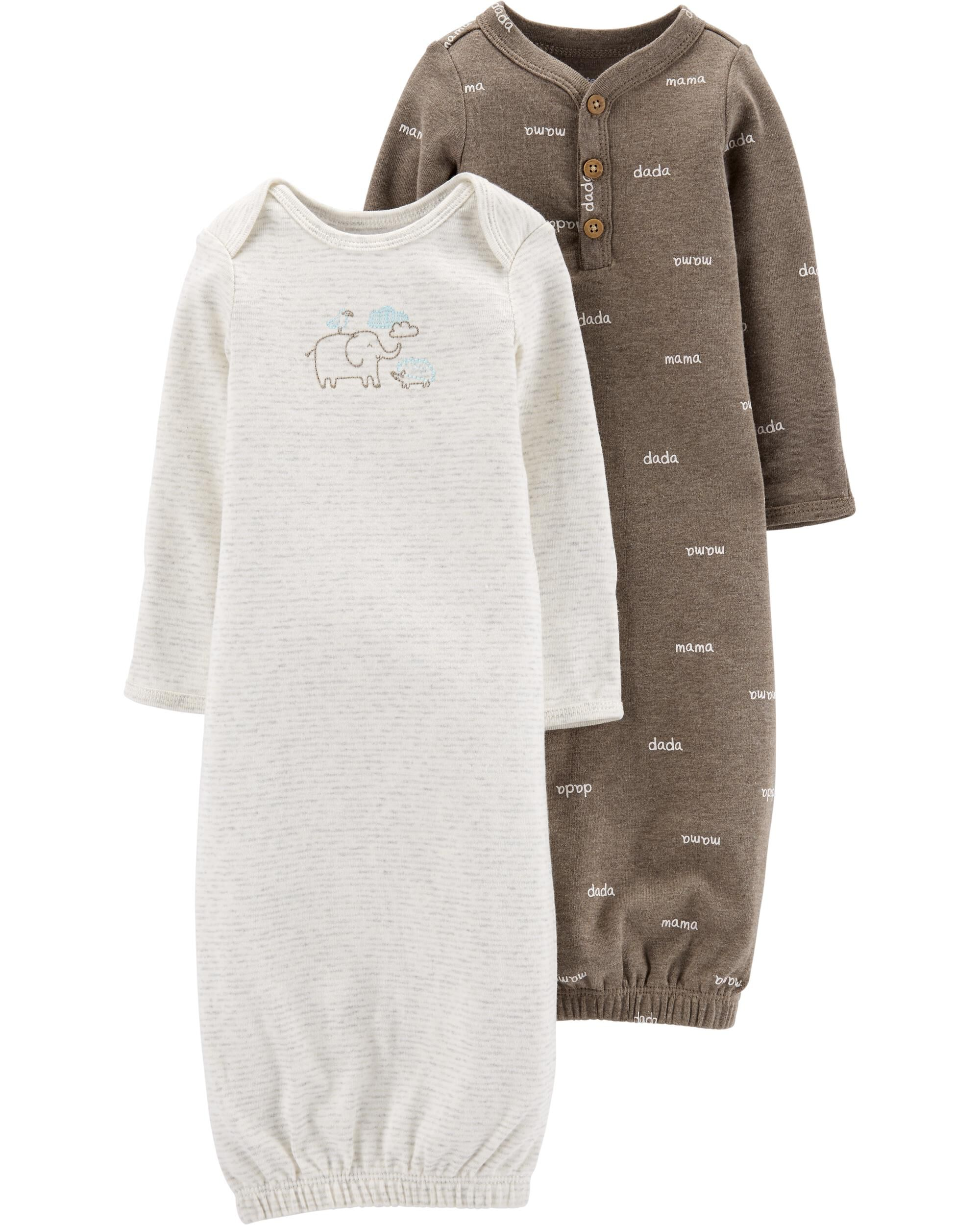 *Clearance*  2-Pack Little Peanut Sleeper Gowns