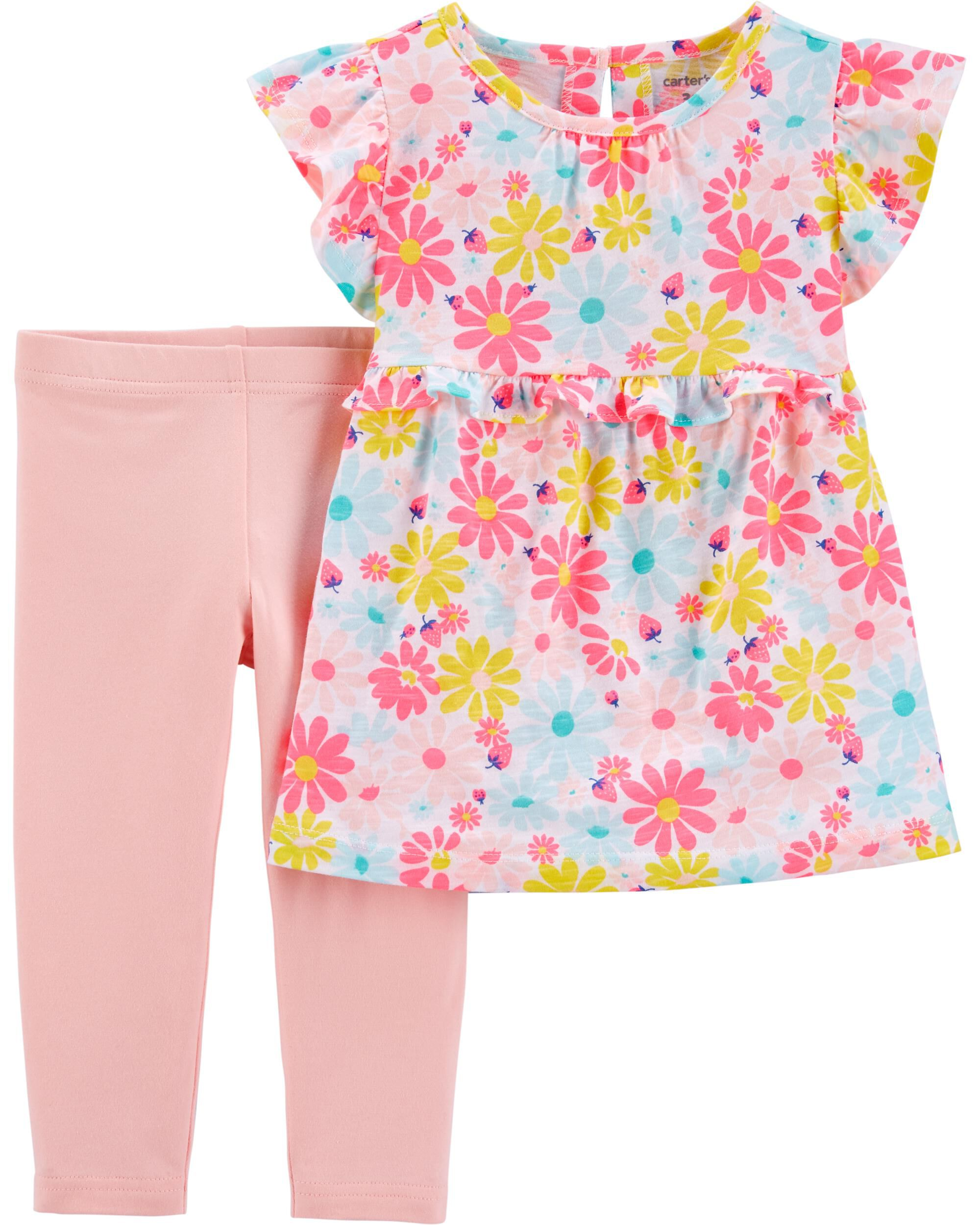 *Clearance*  2-Piece Floral Ruffle Top & Legging...