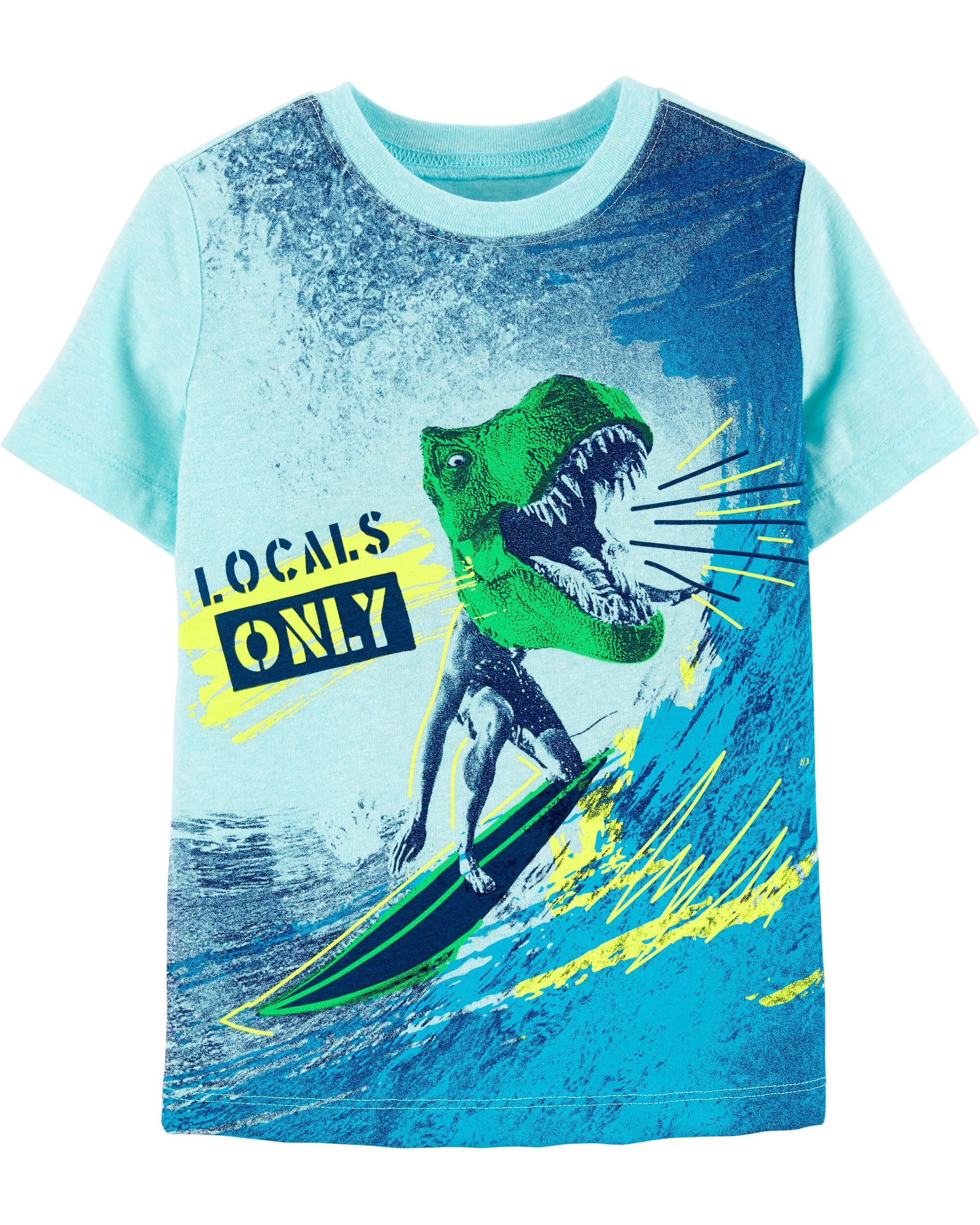 *Clearance*  Dinosaur Surfer Graphic Tee