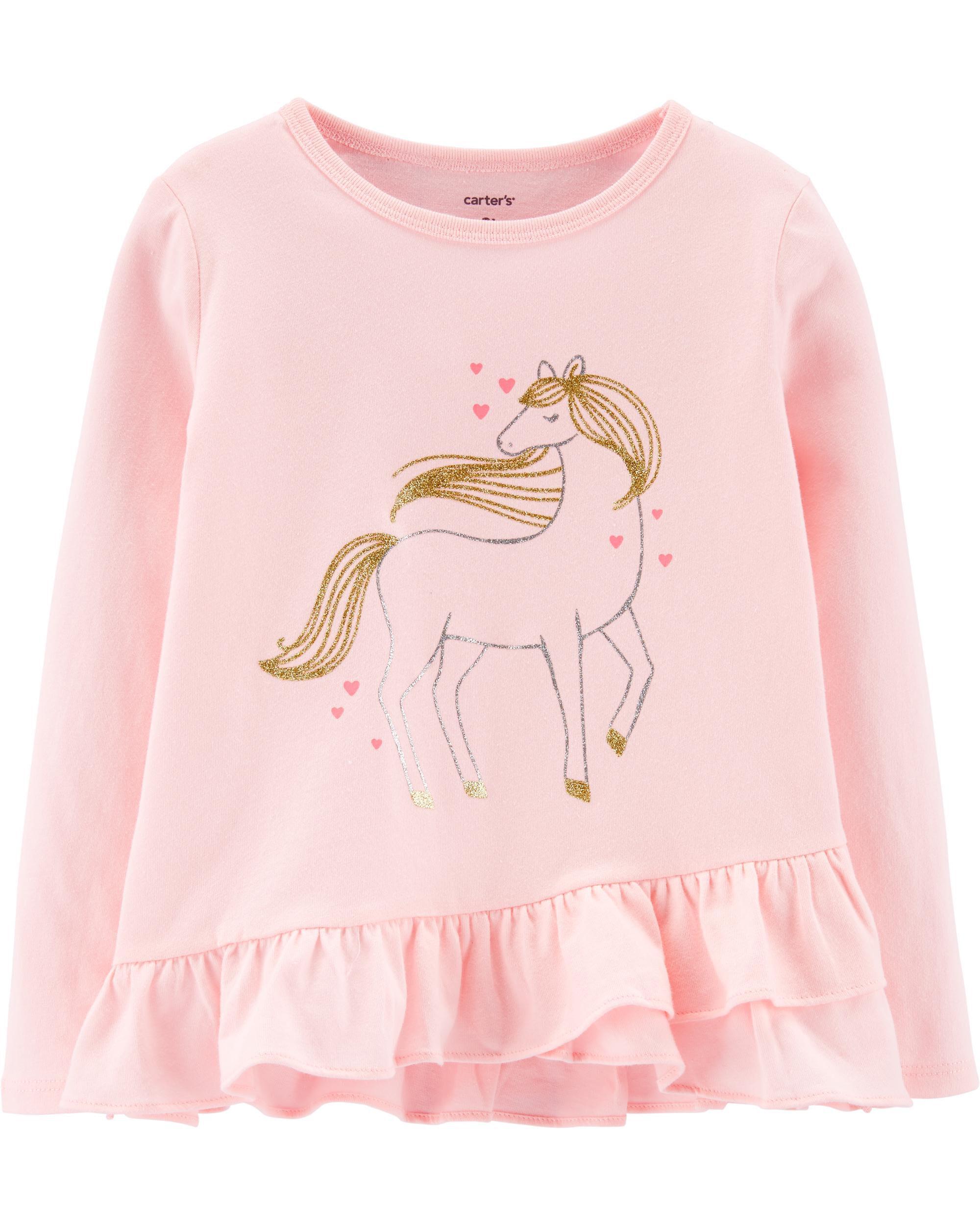 *Clearance*  Unicorn Ruffle Jersey Tee