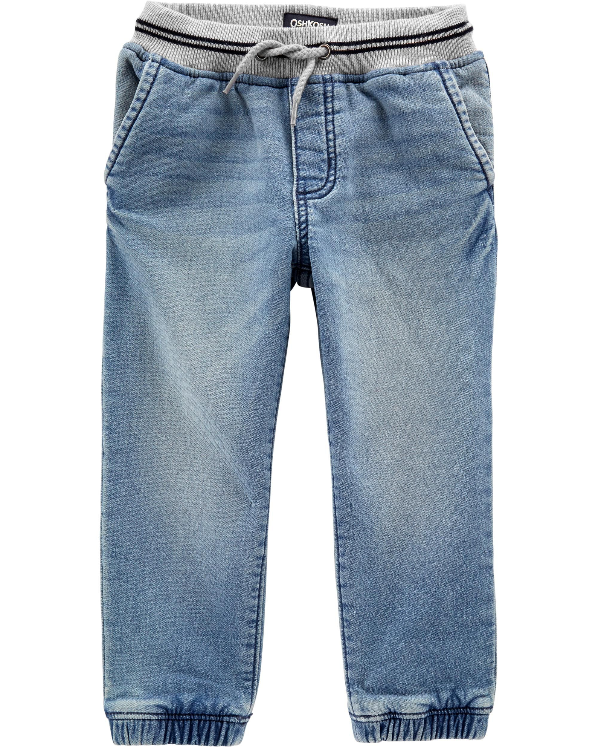 *Clearance*  Pull-On Knit Denim Joggers