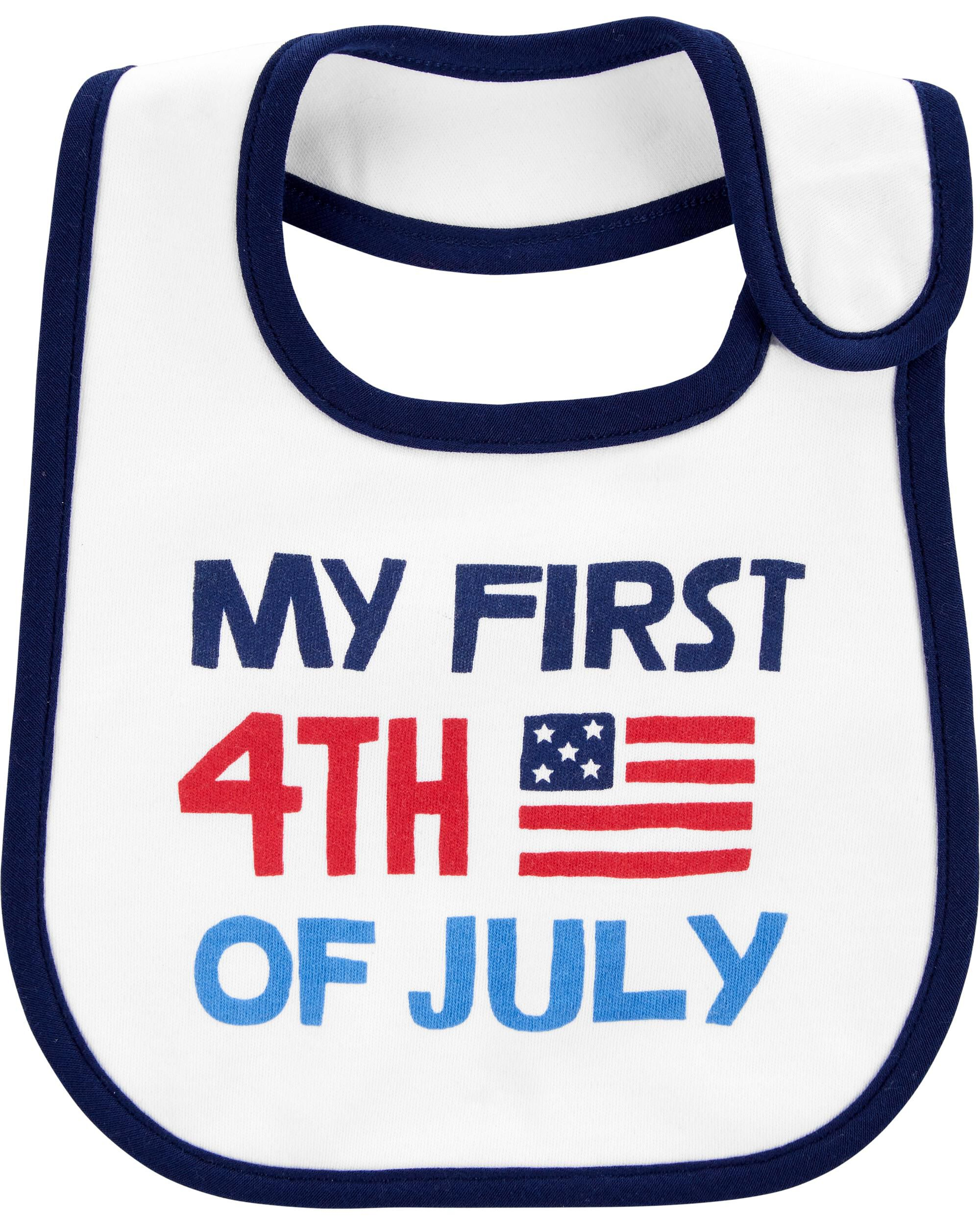 *Clearance*  First 4th Of July Teething Bib