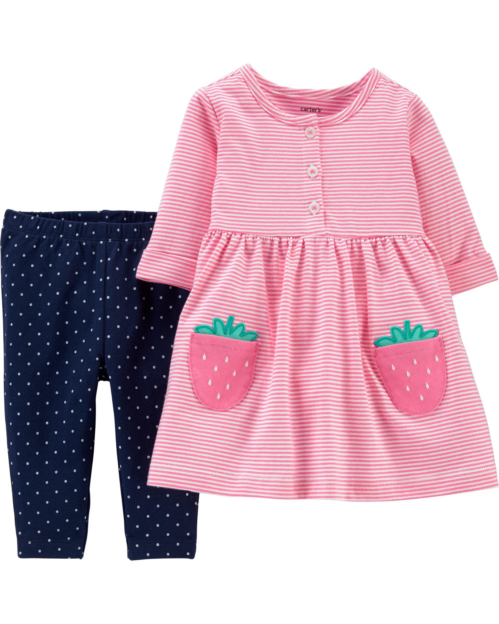 *Clearance*  2-Piece Strawberry Jersey Dress & P...