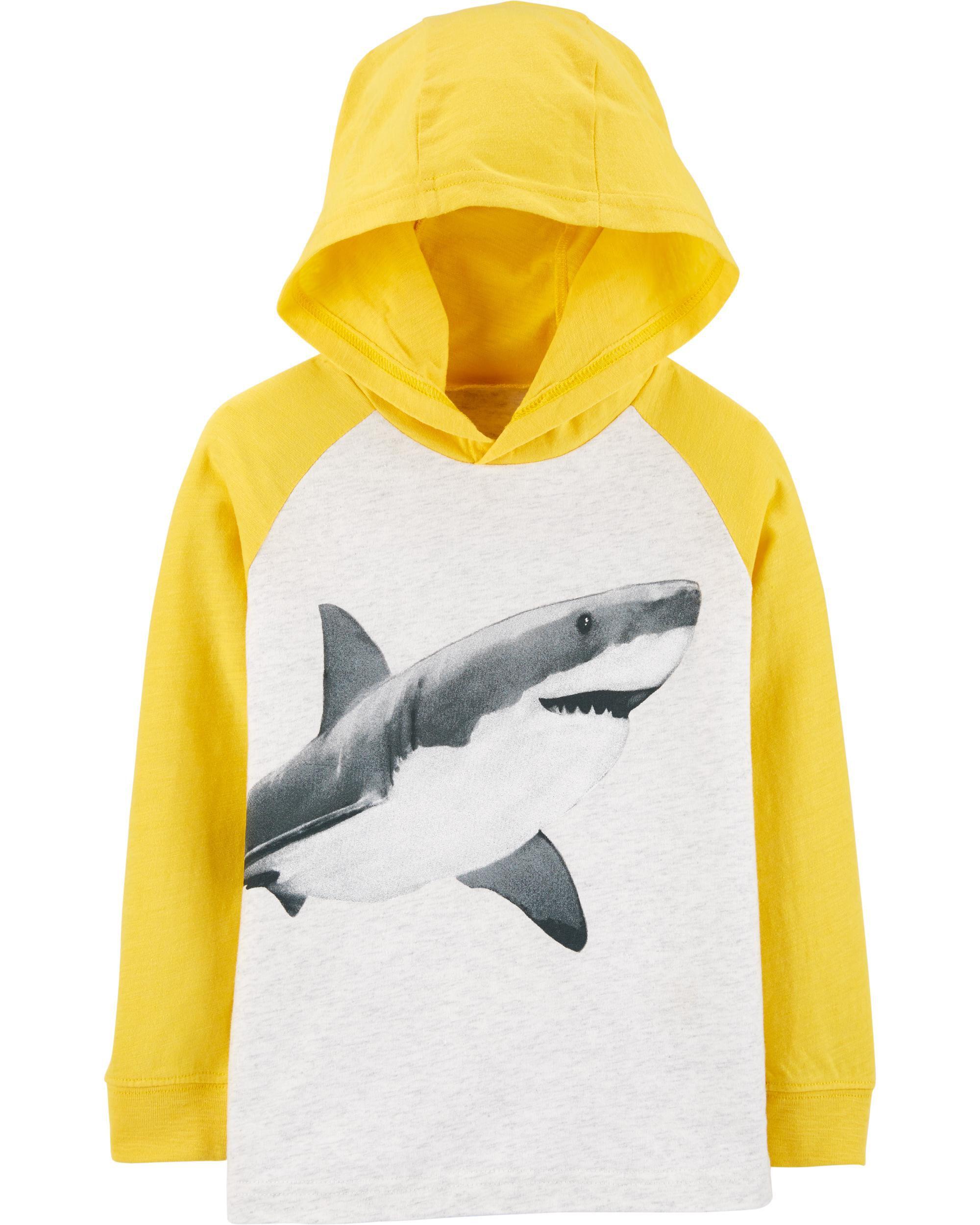 *Clearance*  Shark Raglan Pullover Hoodie