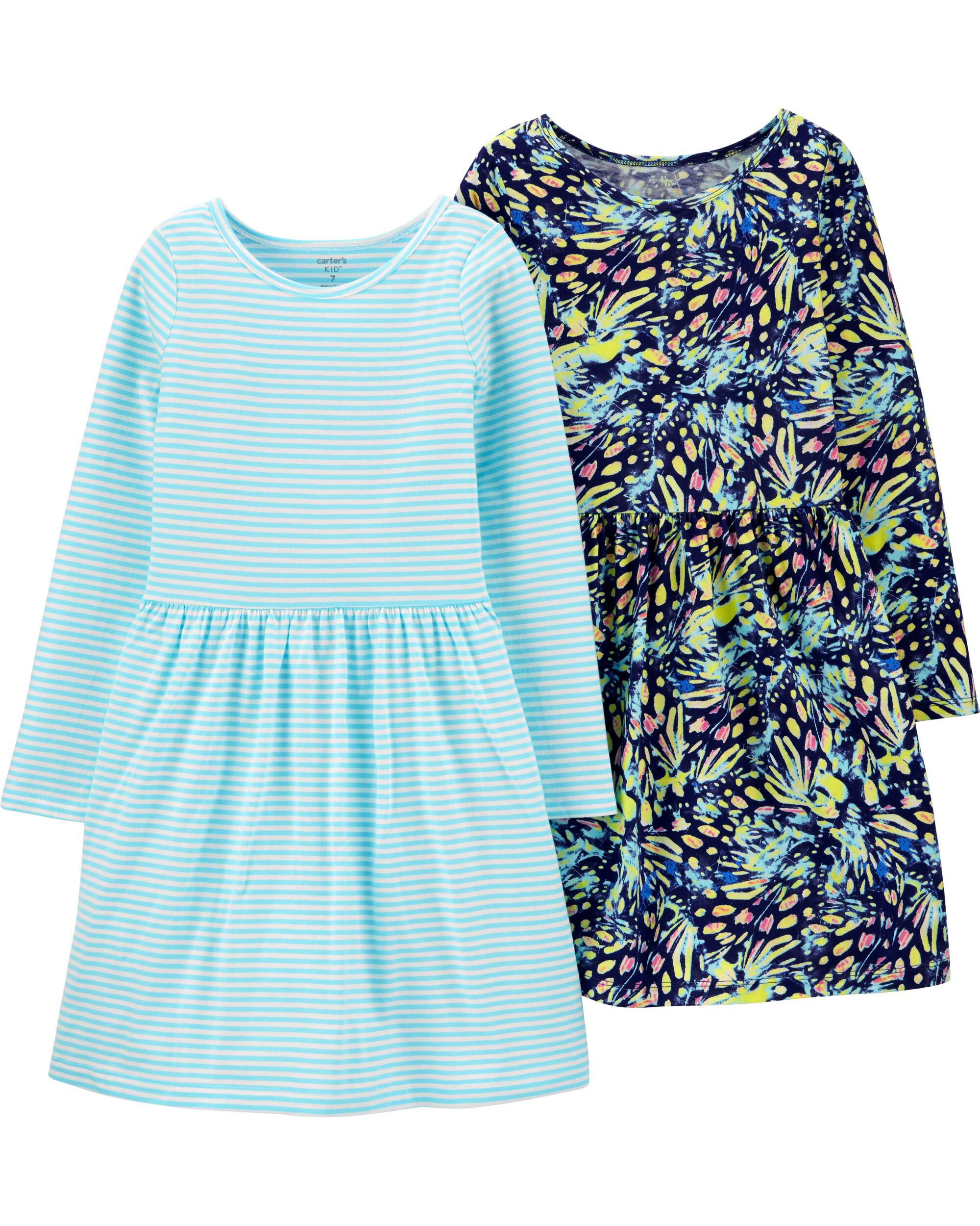 *Clearance*  2-Pack Butterfly & Striped Jersey D...