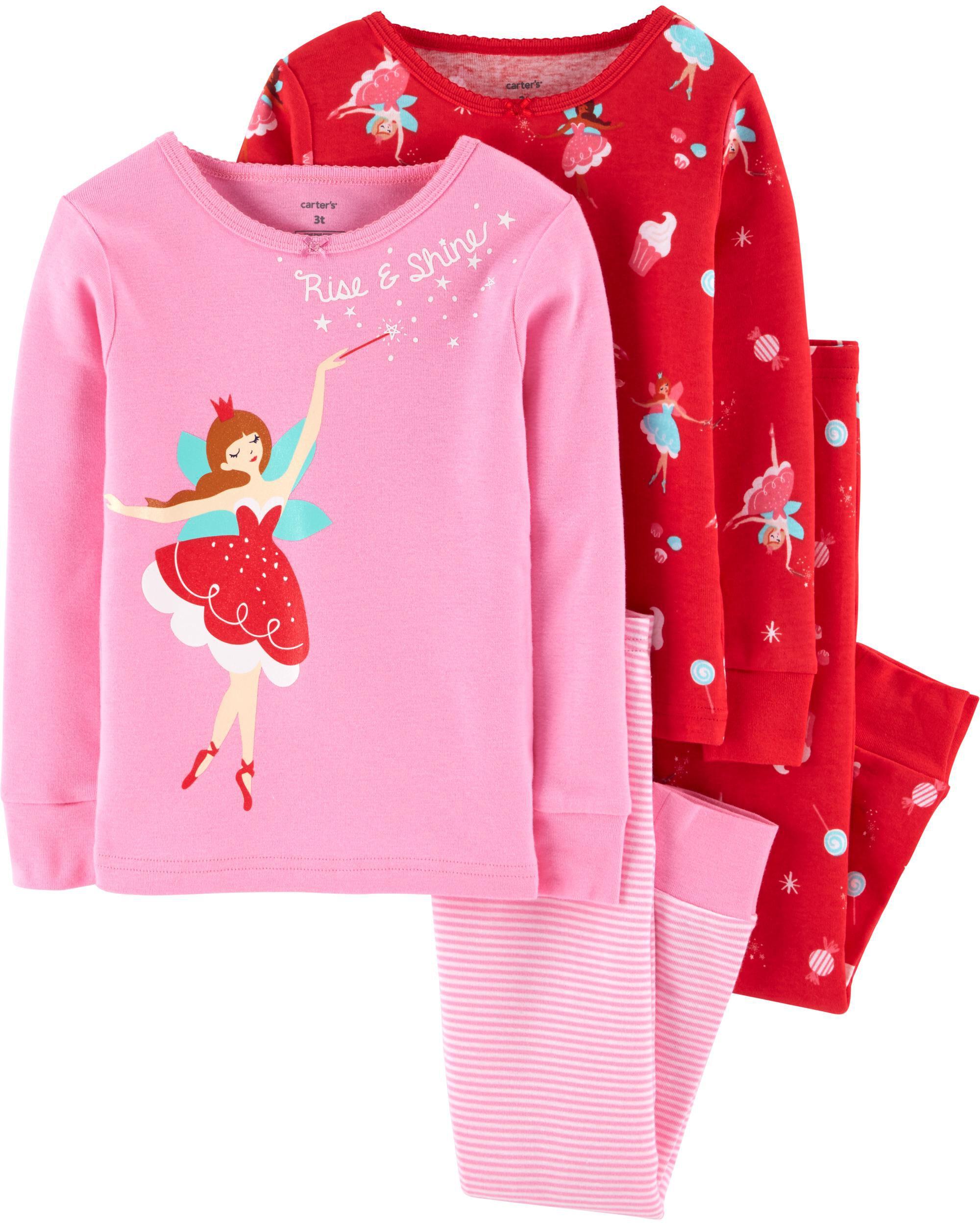*Clearance*  4-Piece Neon Fairy Snug Fit Cotton...
