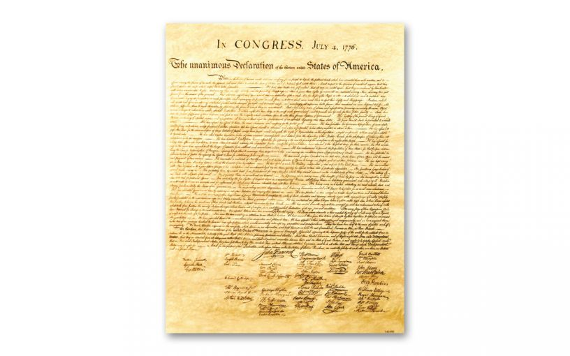 "Declaration of Independence 8½"" x 11"" Commemorative"