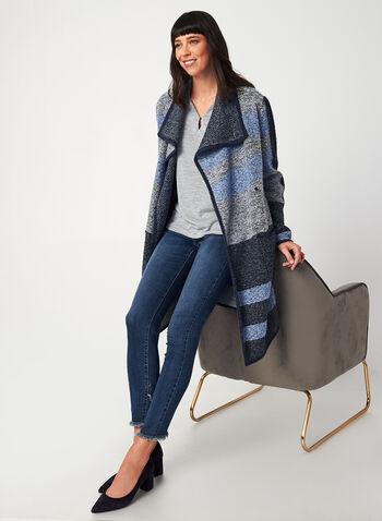 Textured Sleeveless Blouse, Grey,  canada, blouse, top, sleeveless, metallic, keyhole, stretch, light, fall 2019, winter 2019