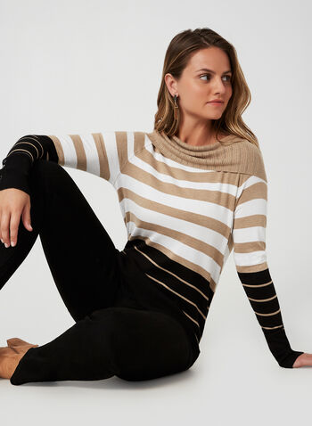 Marilyn Neck Sweater, Brown,  sweater, knit, Marilyn collar, long sleeves, fall 2019, winter 2019