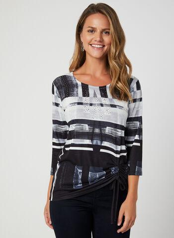 Abstract Print Top, Black,  abstract print blouse