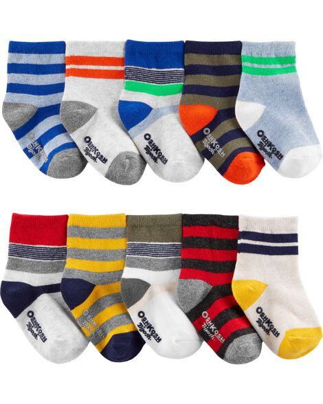 10 Pack Crew Socks by Oshkosh