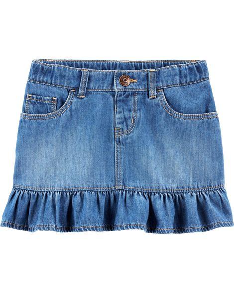 Ruffle Hem Denim Skirt by Oshkosh