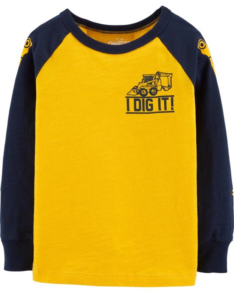 I Dig It Tractor Tee by Oshkosh