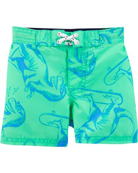 Osh Kosh Dinosaur Swim Trunks by Oshkosh