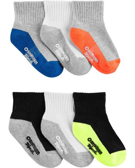 6 Pack Athletic Quarter Crew Socks by Oshkosh