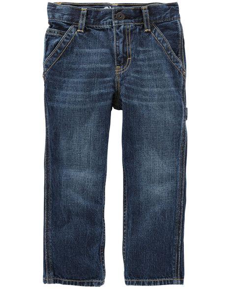 Workwear Straight Jeans   Vintage Blue Wash by Oshkosh